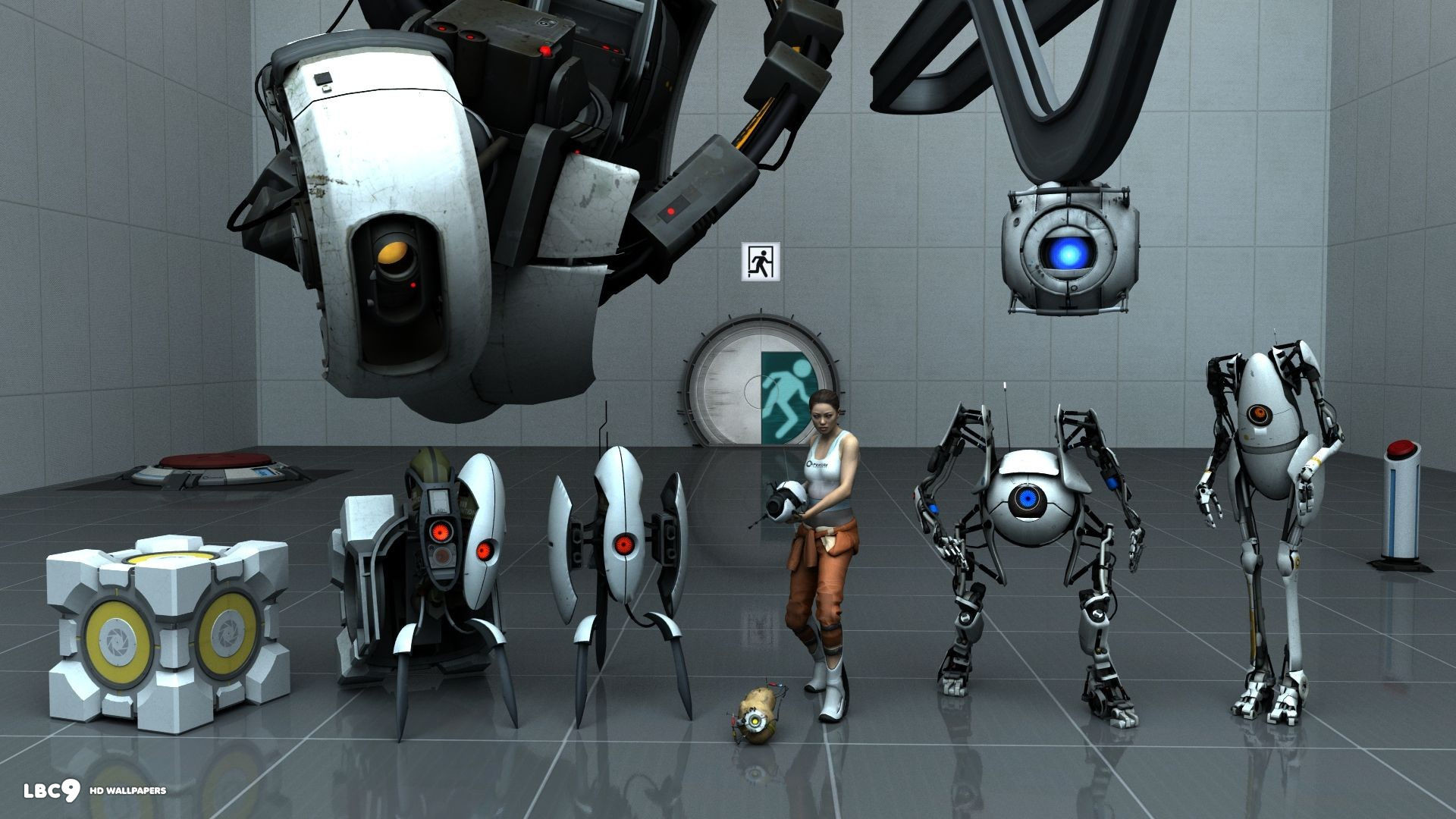 portal 2 characters 1920×1080