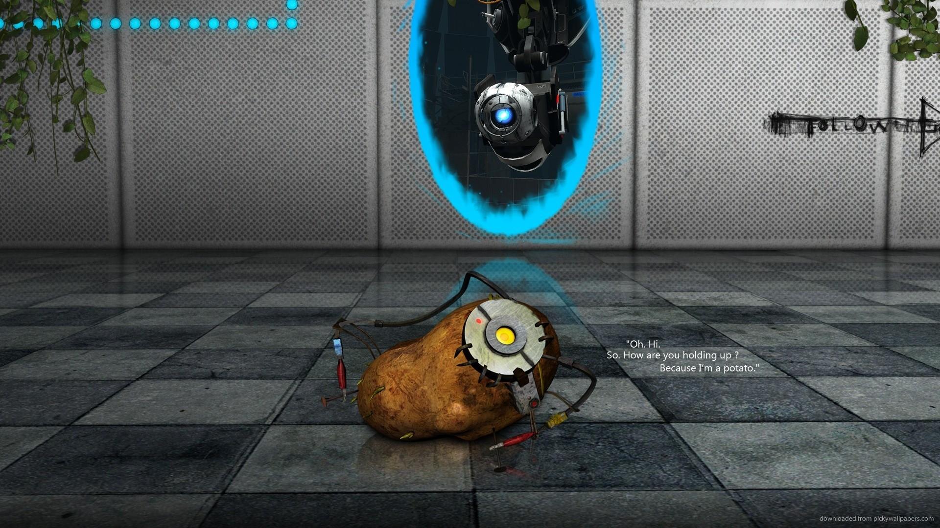 GLaDOS as a potato picture