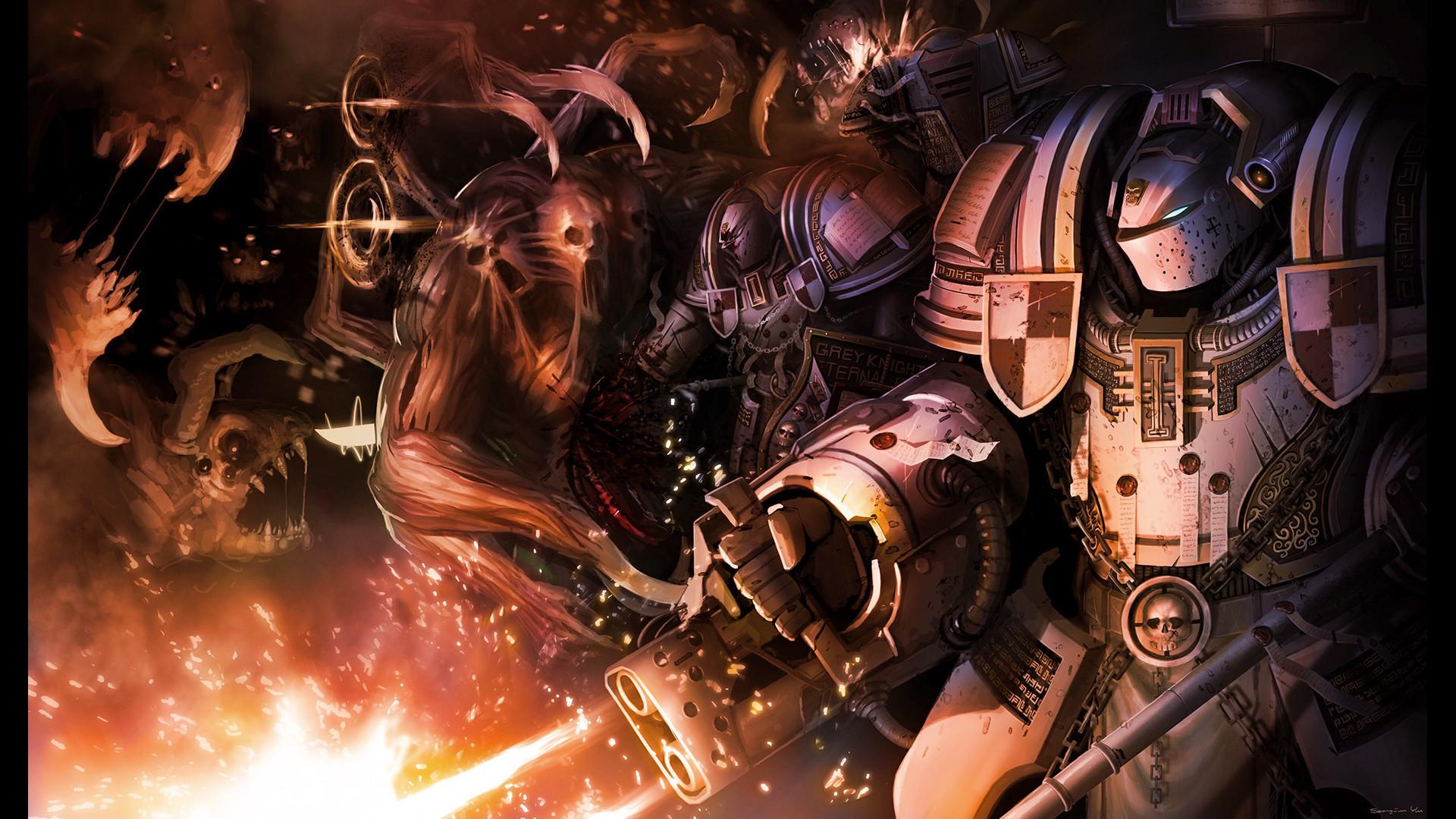 [Digital Painting] Warhammer 40K Grey Knights.