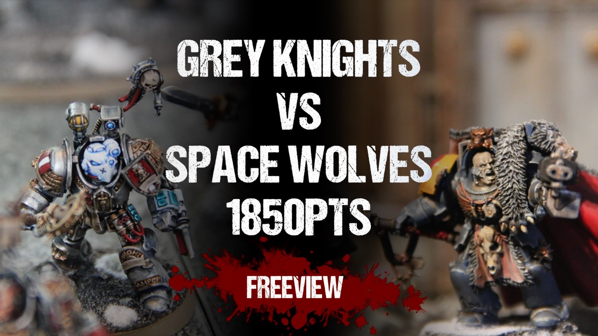 Warhammer 40,000 Battle Report: Grey Knights vs Space Wolves 1850pts –  YouTube