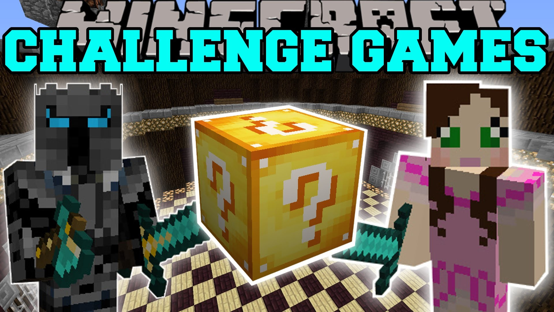 Minecraft: PAT VS JEN CHALLENGE GAMES – Lucky Block Mod – Modded Mini-Game  – YouTube