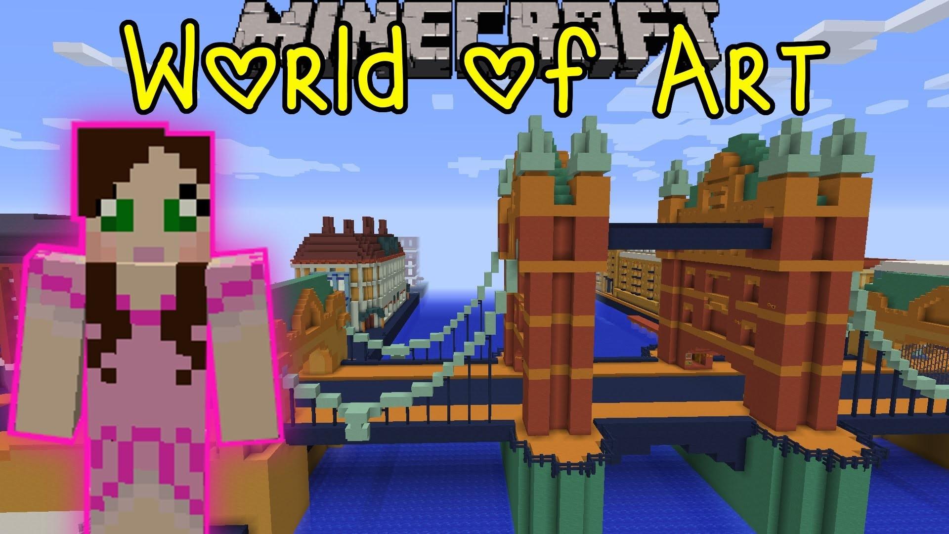 Pat And Jen Minecraft: World Of Art (Custom Map) Part 3 GamingWithJen