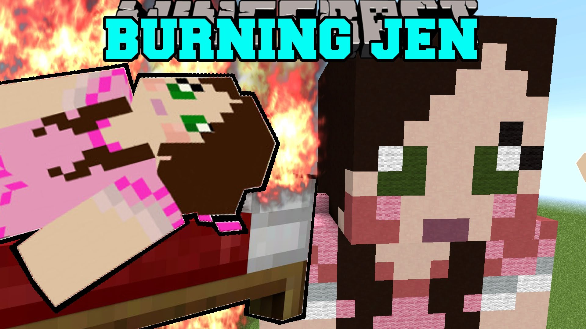 Minecraft: GAMINGWITHJEN IS BURNING! (TRAPPED INSIDE JEN!) Mini-Game –  YouTube