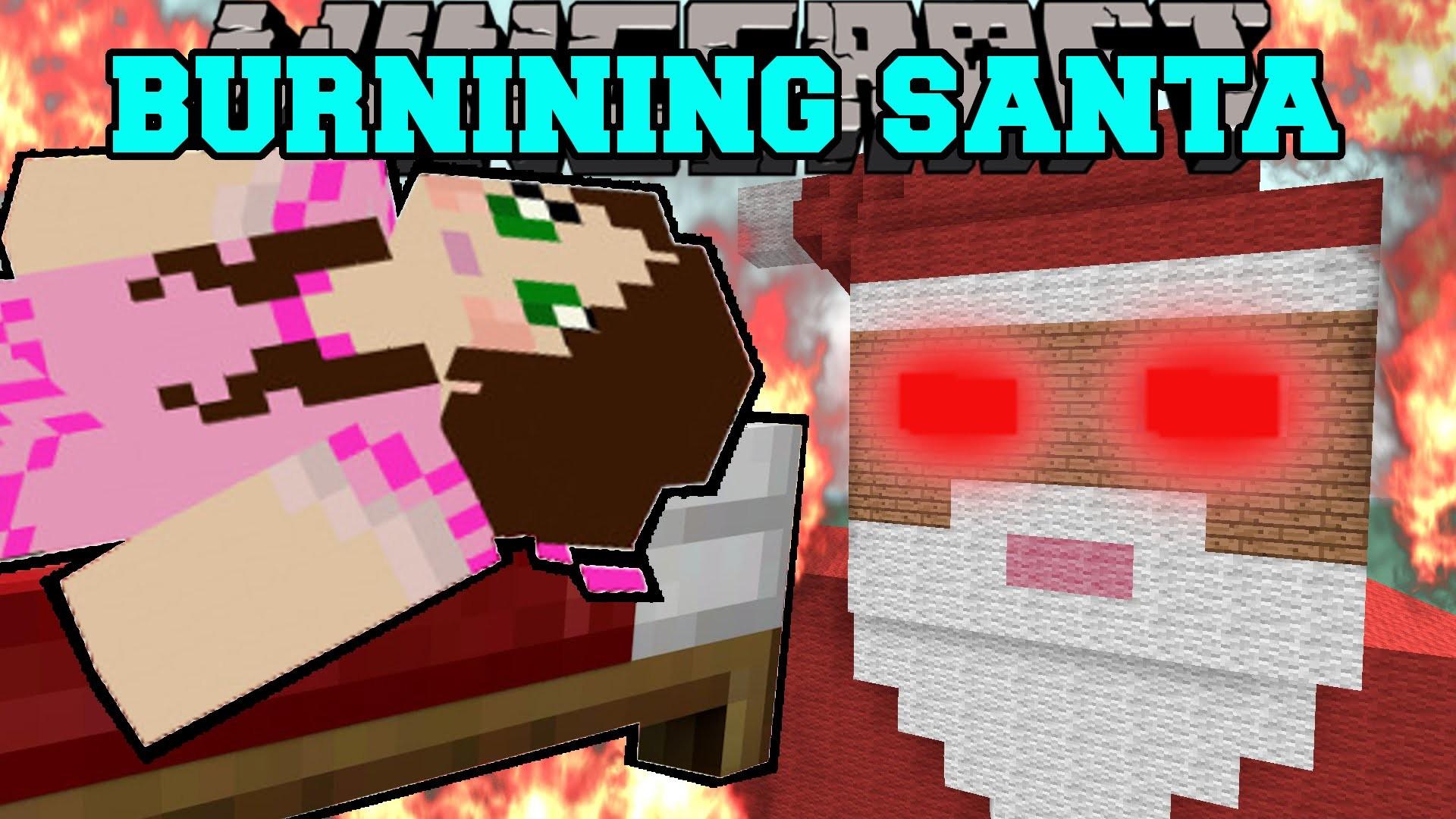 Minecraft: BURNING SANTA CLAUS (CHRISTMAS PRESENT & GINGERBREAD HOUSE!)  Mini-Game – YouTube
