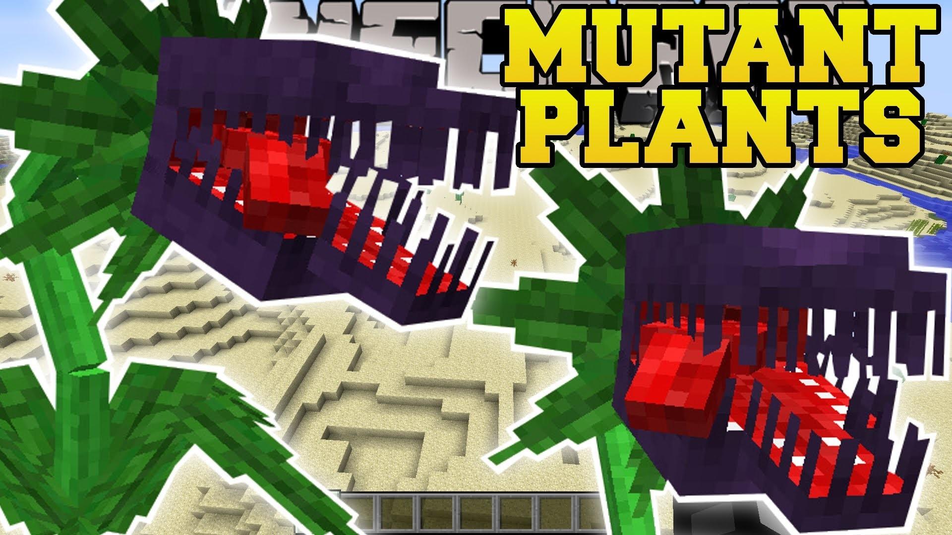 PAT & JEN Minecraft: MUTANT PLANTS MOD (EVIL PLANTS THAT EAT EVERYTHING!