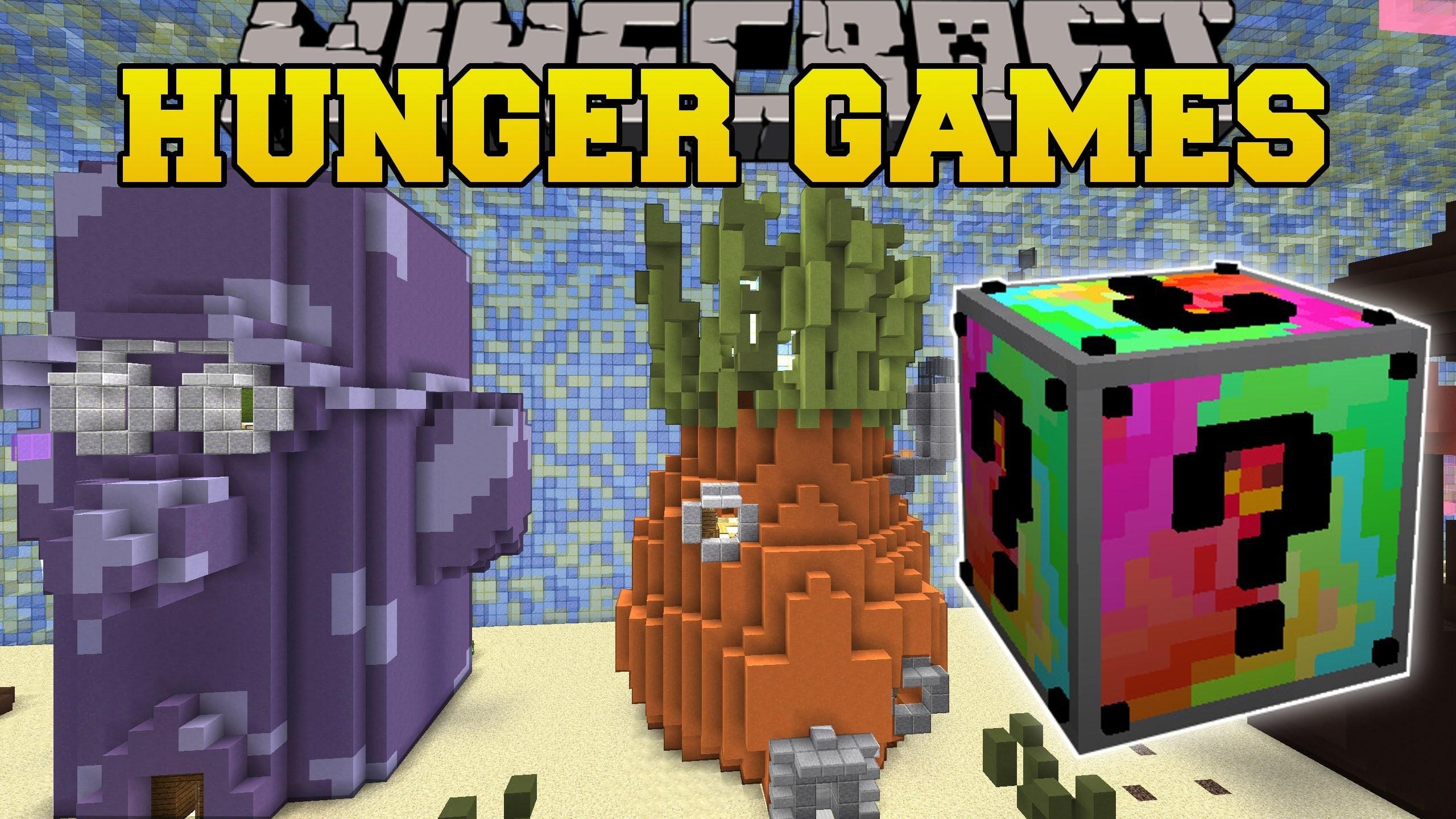 Pat And JEN PopularMMOs | Minecraft SPONGE BOB HUNGER GAMES.