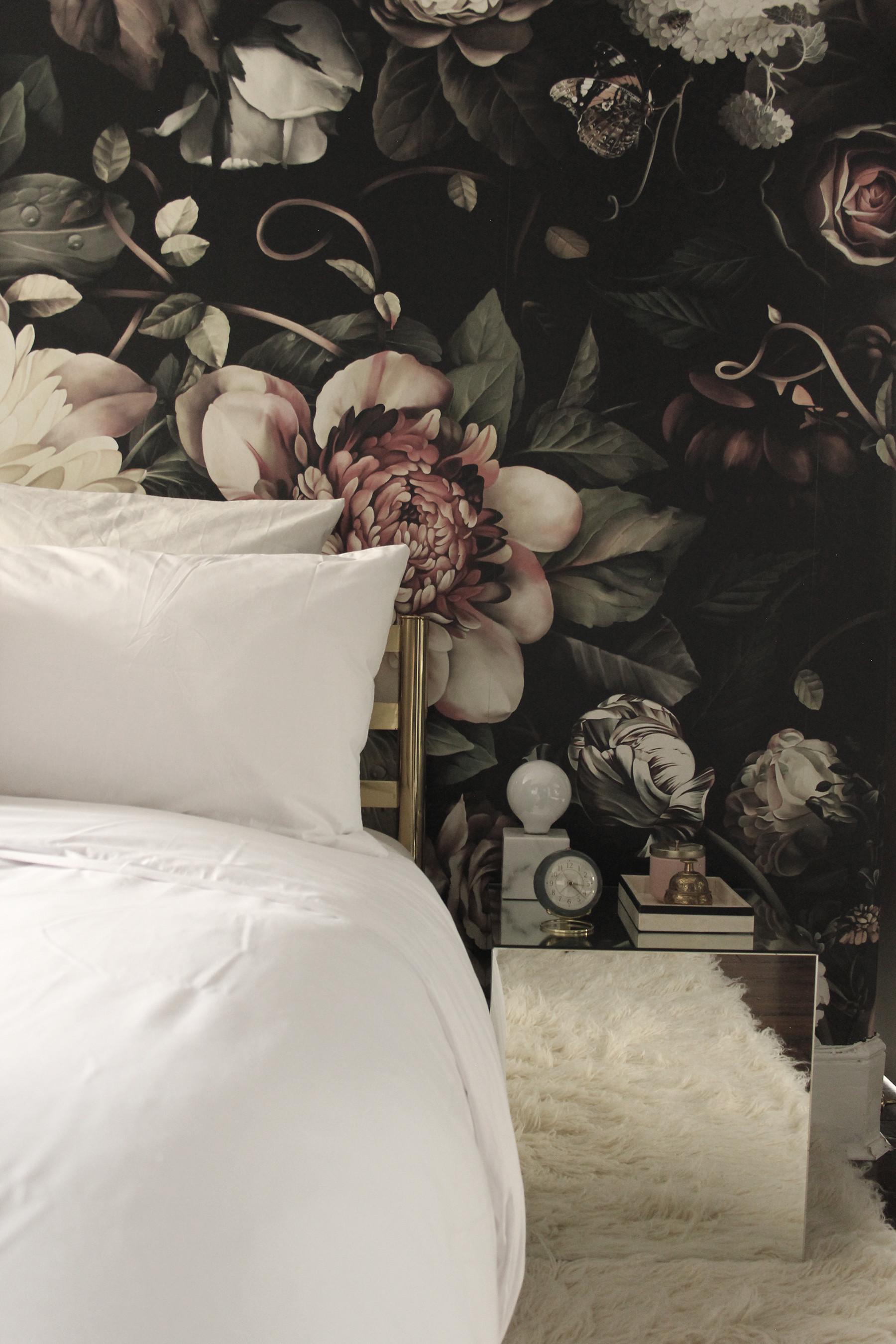 Preciously Me blog : One Room Challenge – Bedroom makeover reveal. Ellie  Cashman Dark Floral