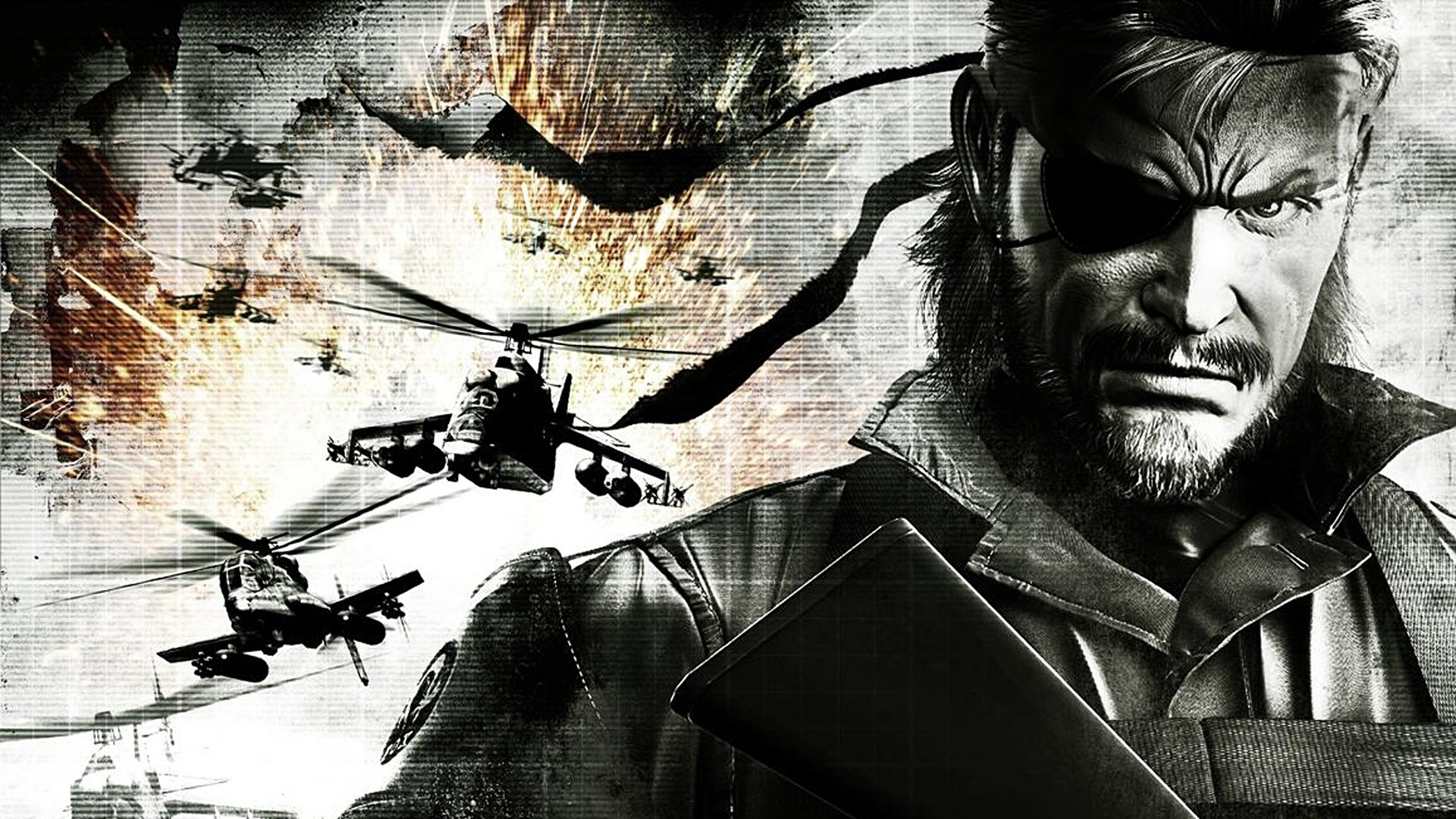 Wallpaper metal gear solid, man, character, helicopters