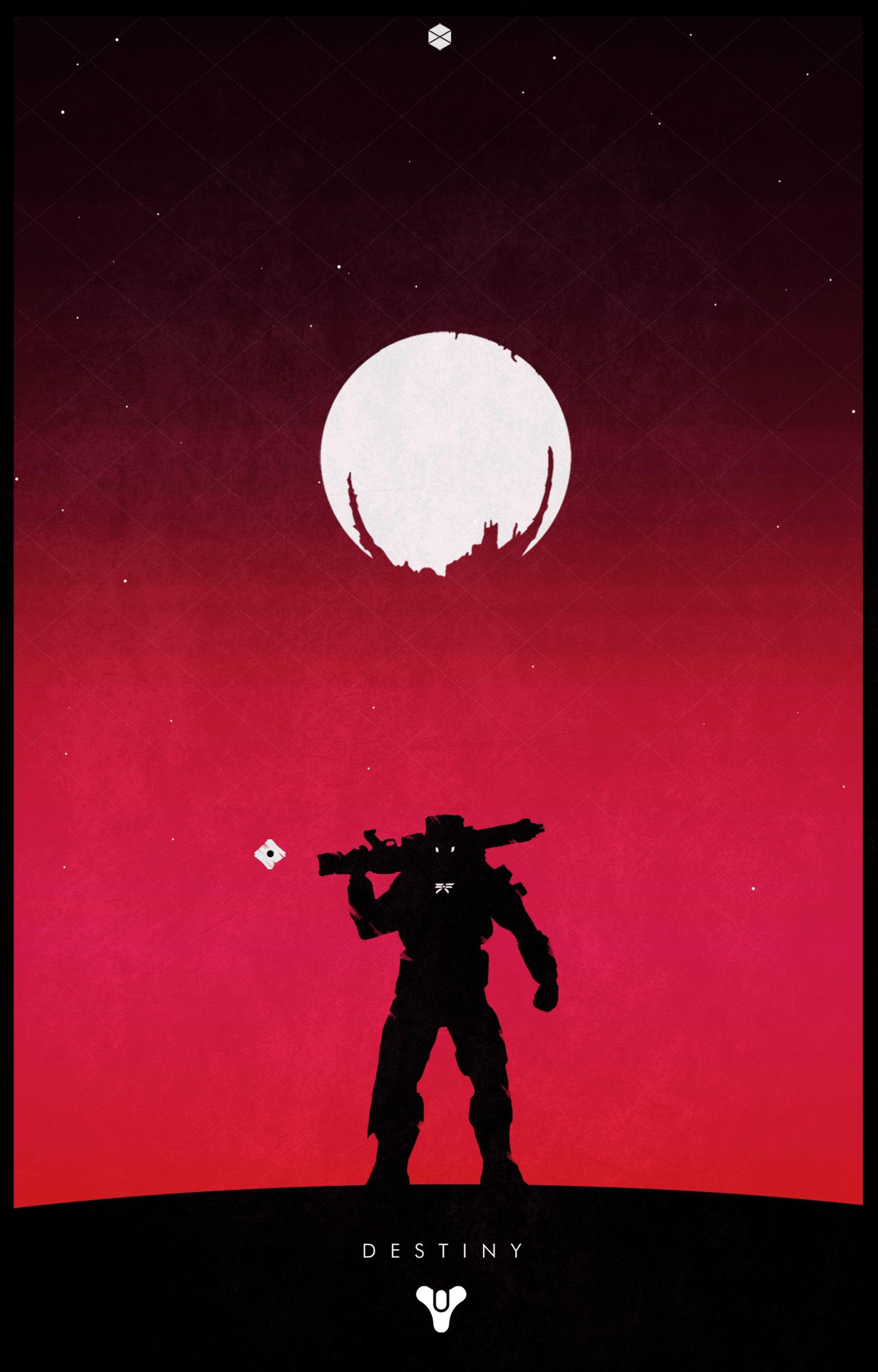 Titan w/ Traveler (Red Background)