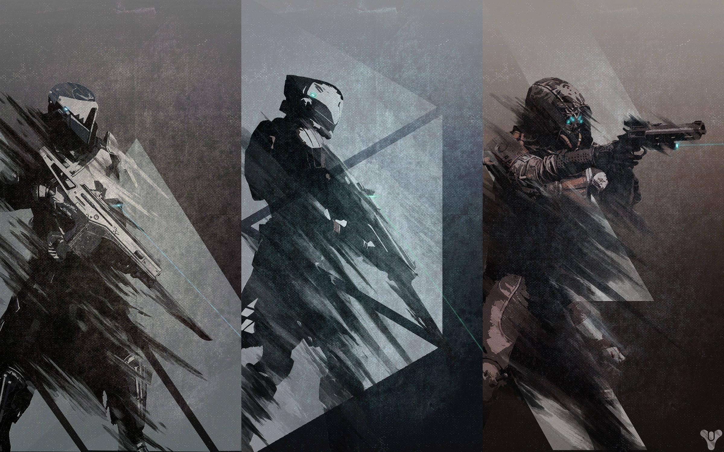 Trio of Destiny Posters – Hunter, Warlock, and Titan : DestinyTheGame