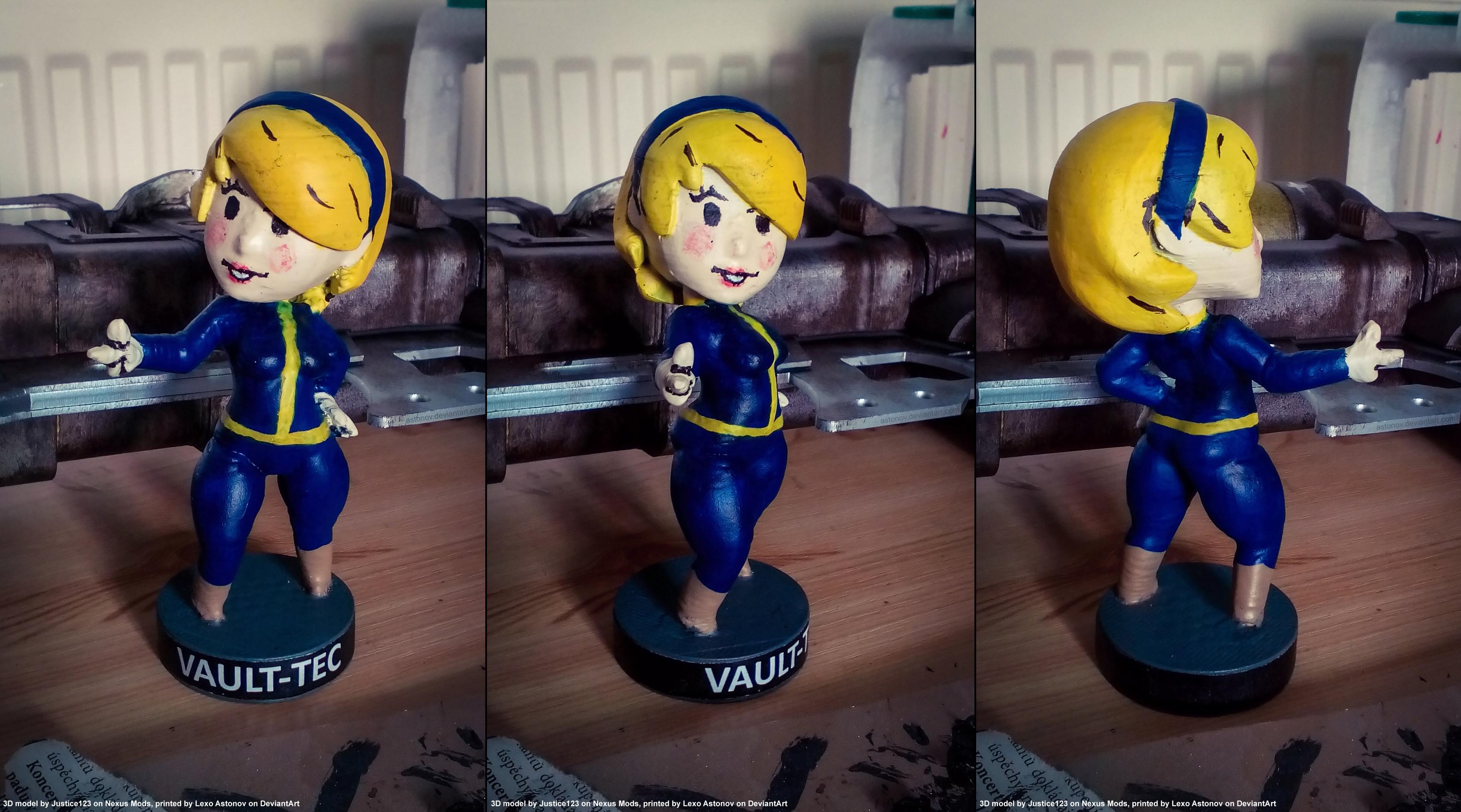 … 3D Printed Vault Girl Figure by Astonov
