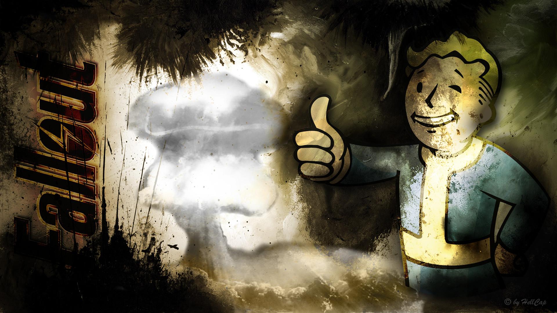 fallout vault boy wallpaper by netbase fan art wallpaper games 2011 .