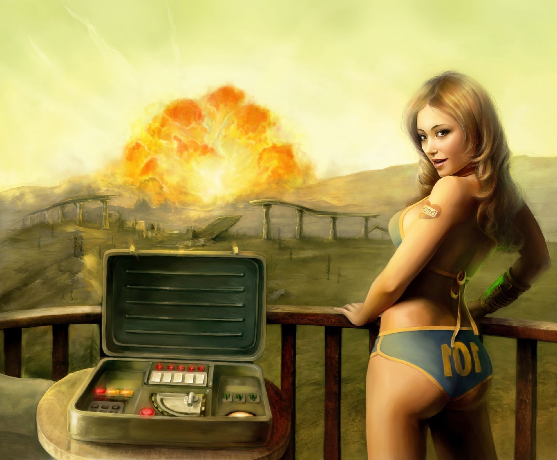 tenpenny babe Fallout 3 girl explosion