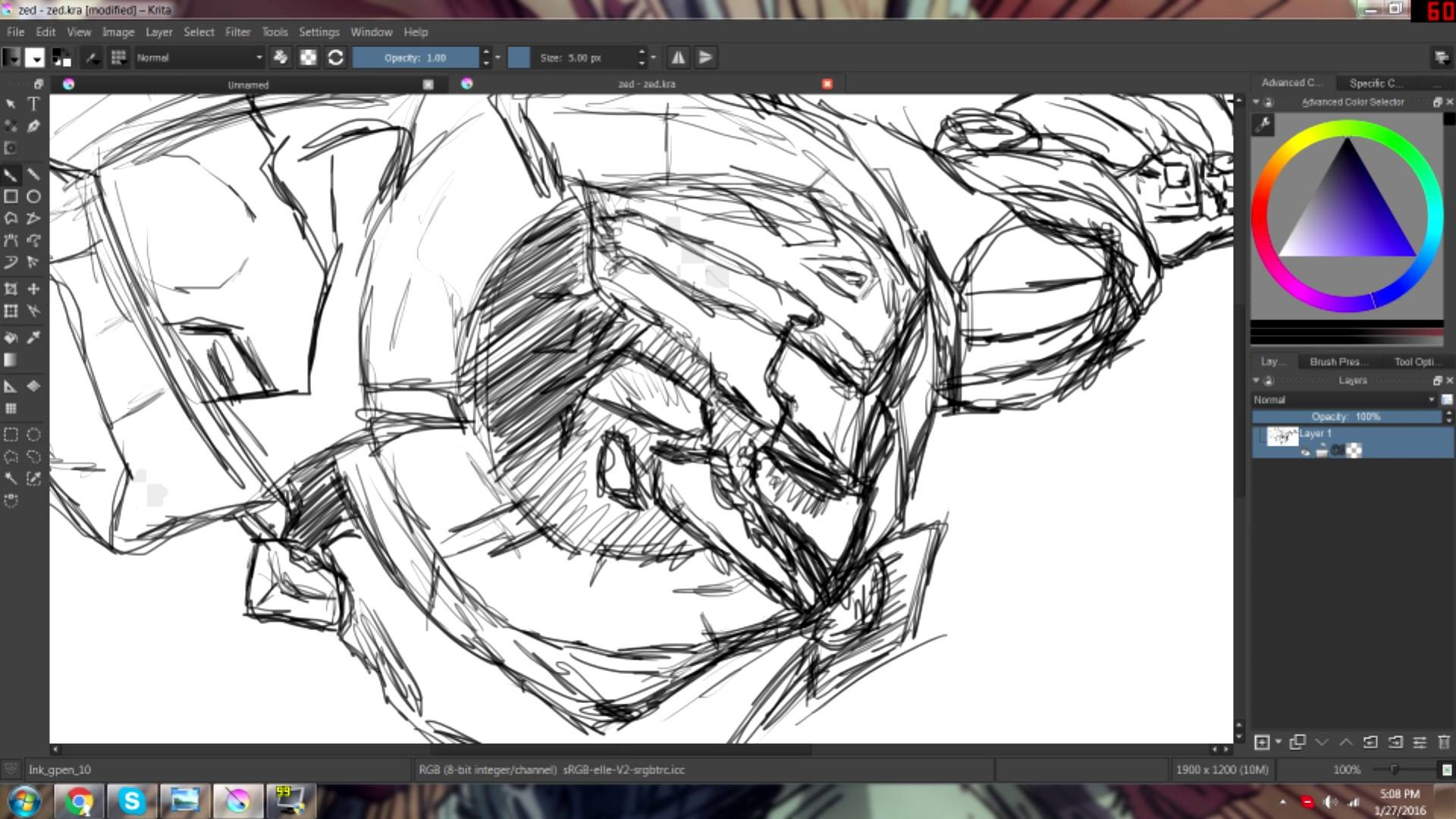 Drawing PROJECT ZED just a quicky