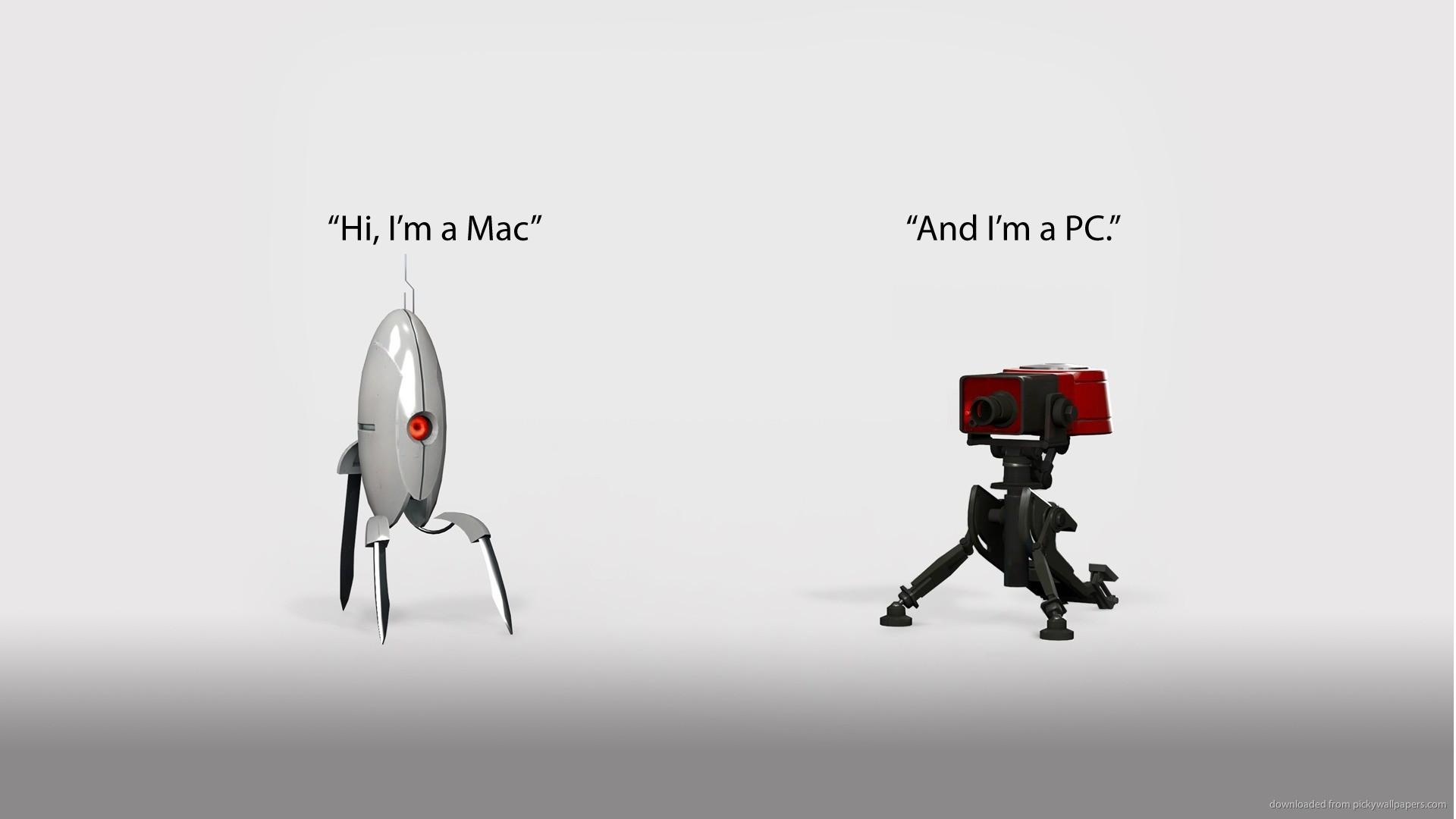 HD Mac and PC turrets wallpaper