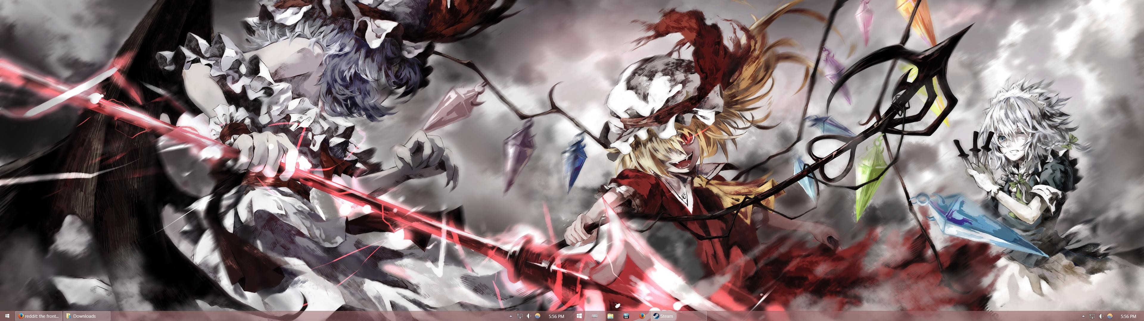 Anyone have Touhou-related dual screen wallpapers?