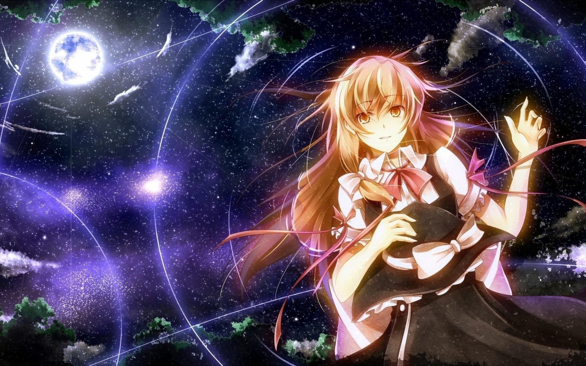Anime – Touhou Girl Anime Marisa Kirisame Wallpaper