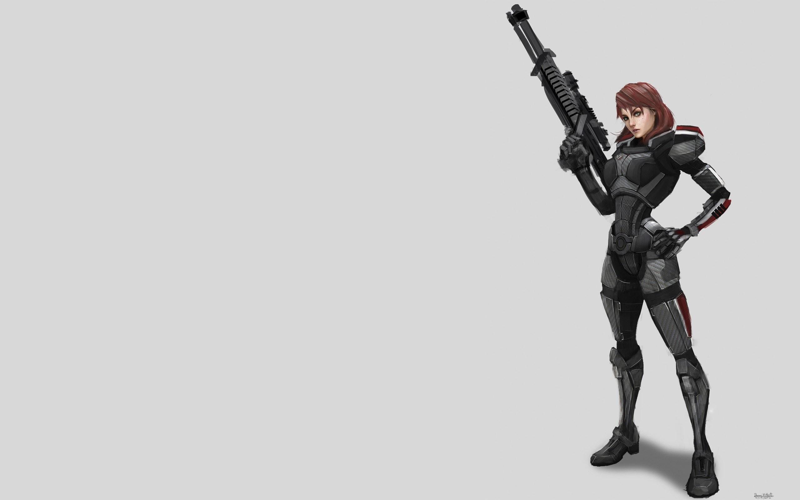 Women video games Mass Effect artwork Mass Effect 3 FemShep Commander  Shepard simple background wallpaper | | 314608 | WallpaperUP