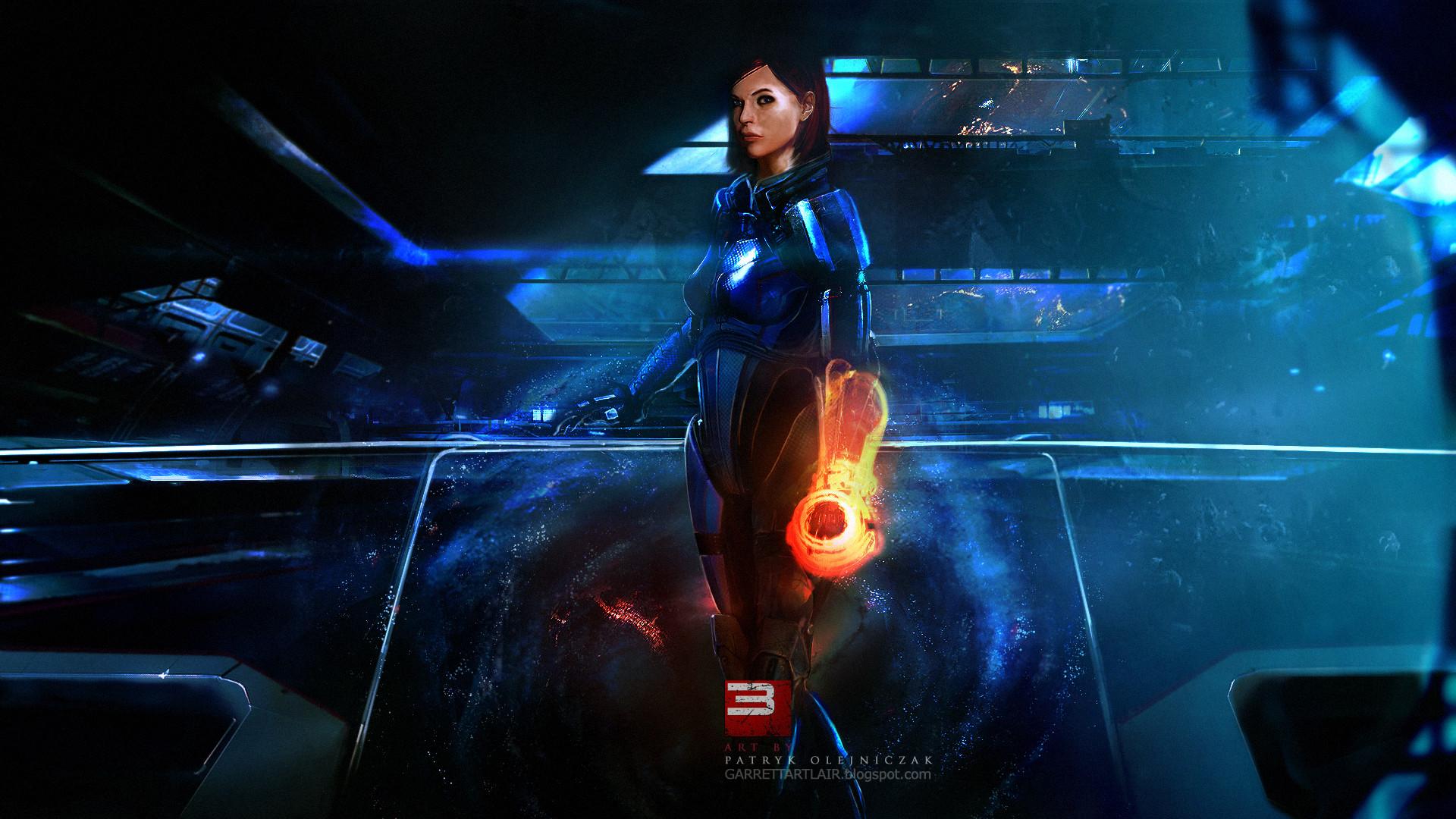 Mass Effect 3 Female Shepard Fan Art Wallpaper