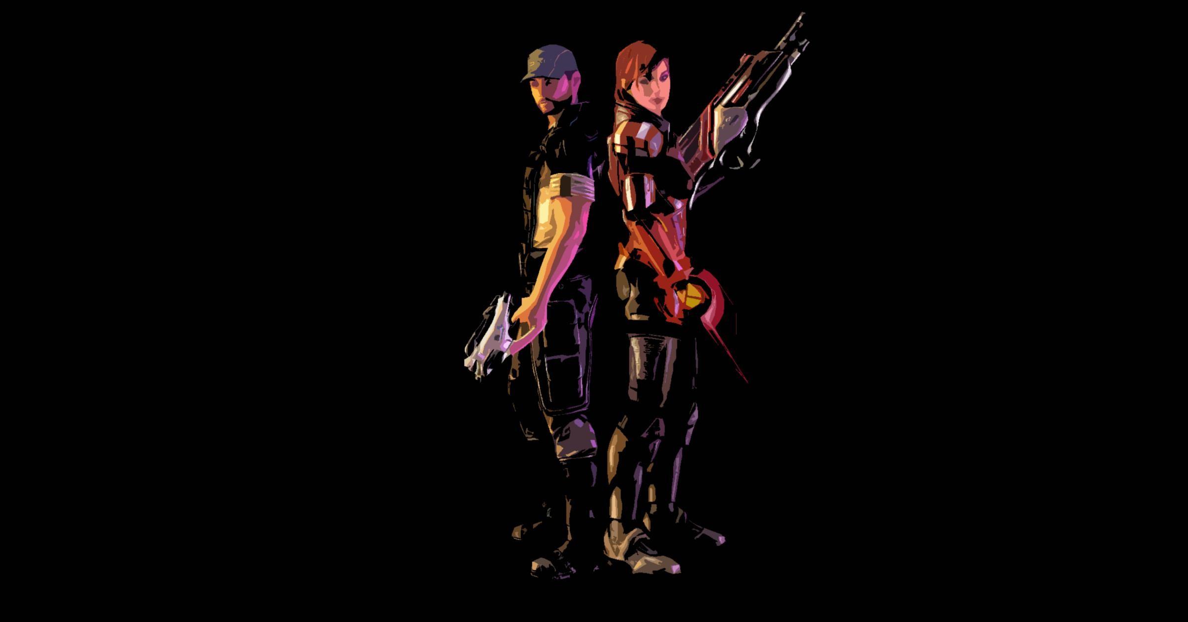… Mass Effect 3: Joker and Femshep Wallpaper by Lootra