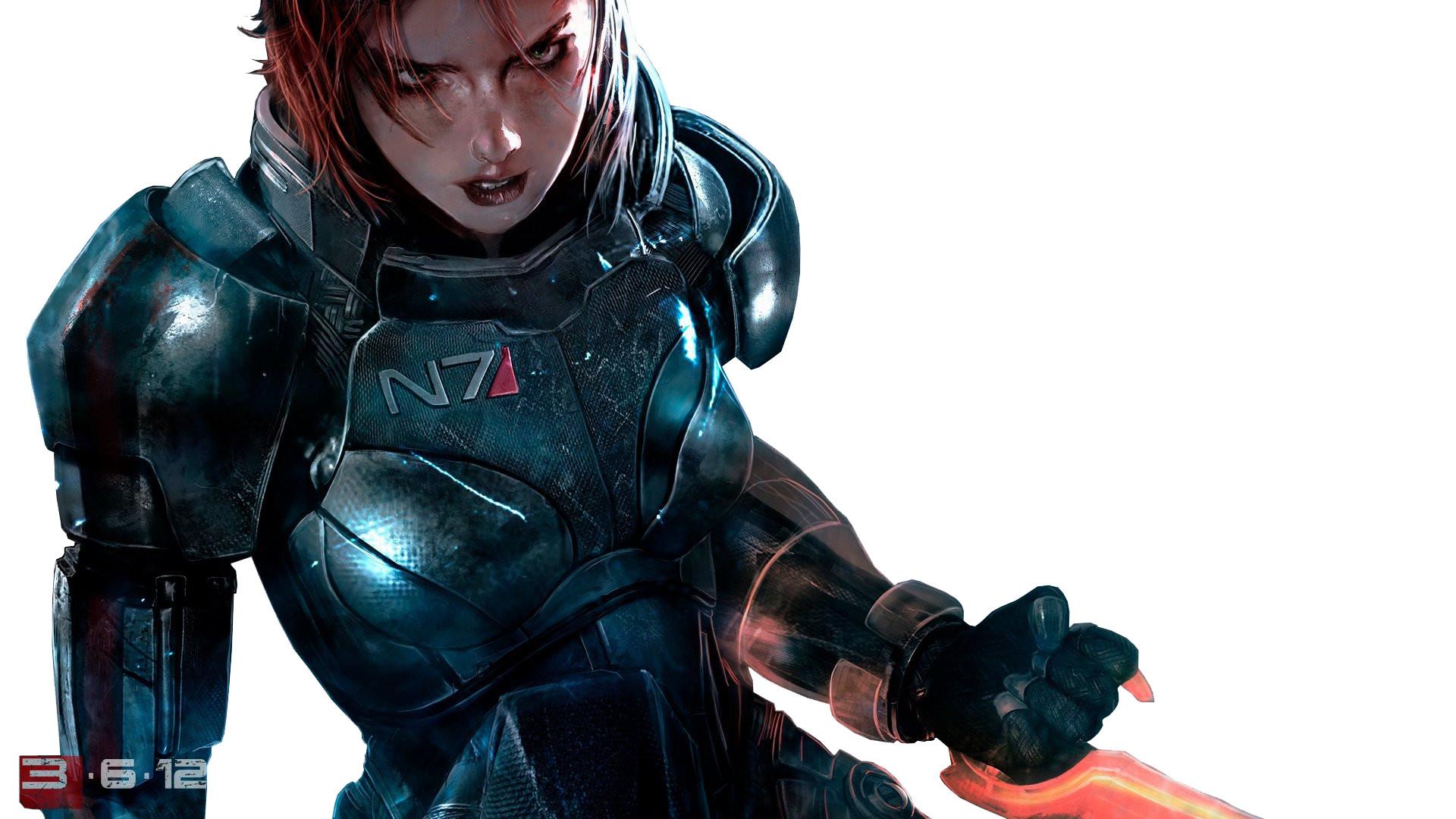 Commander Shepard Fantasy Art Female Warriors FemShep Mass Effect 3 Video  Games
