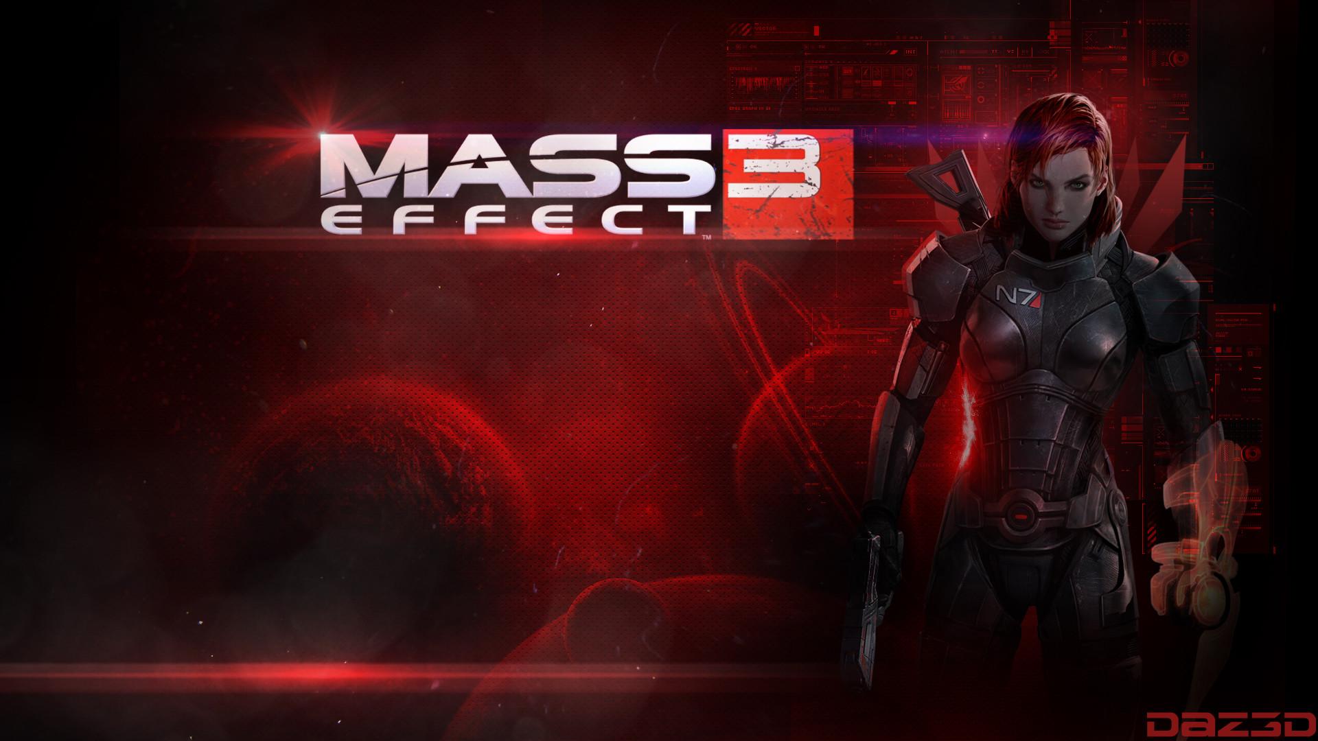 … Mass Effect 3 FemShep Fan Made Wallpaper by DaZeGFX