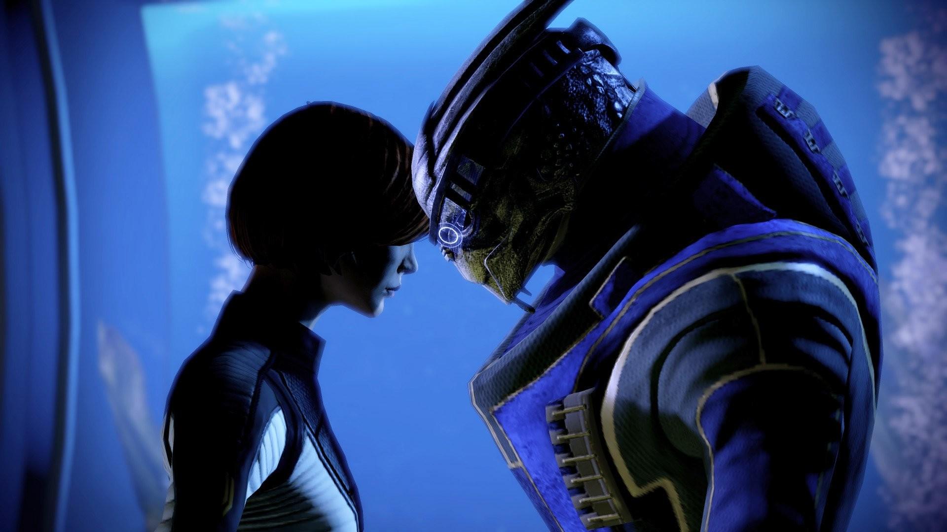 Video games Mass Effect Garrus Vakarian FemShep Commander Shepard wallpaper  | | 294515 | WallpaperUP
