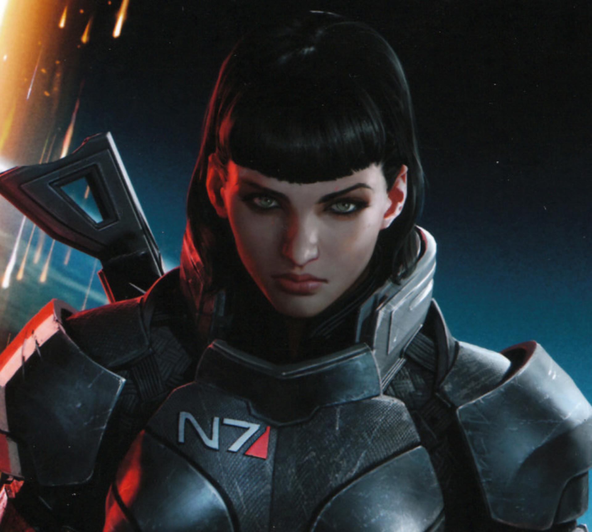 Mass Effect 3 Wallpaper Female Shepard Brunette