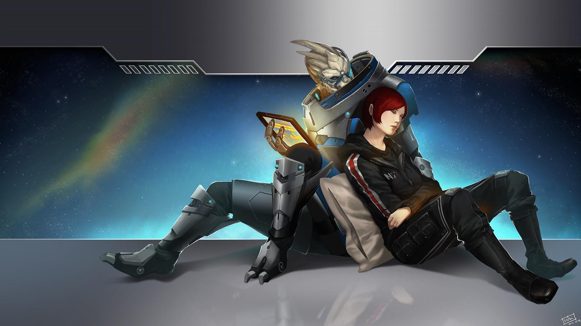 Mass Effect shepard Garrus sci-fi aliens futuristc wallpaper | |  40693 | WallpaperUP