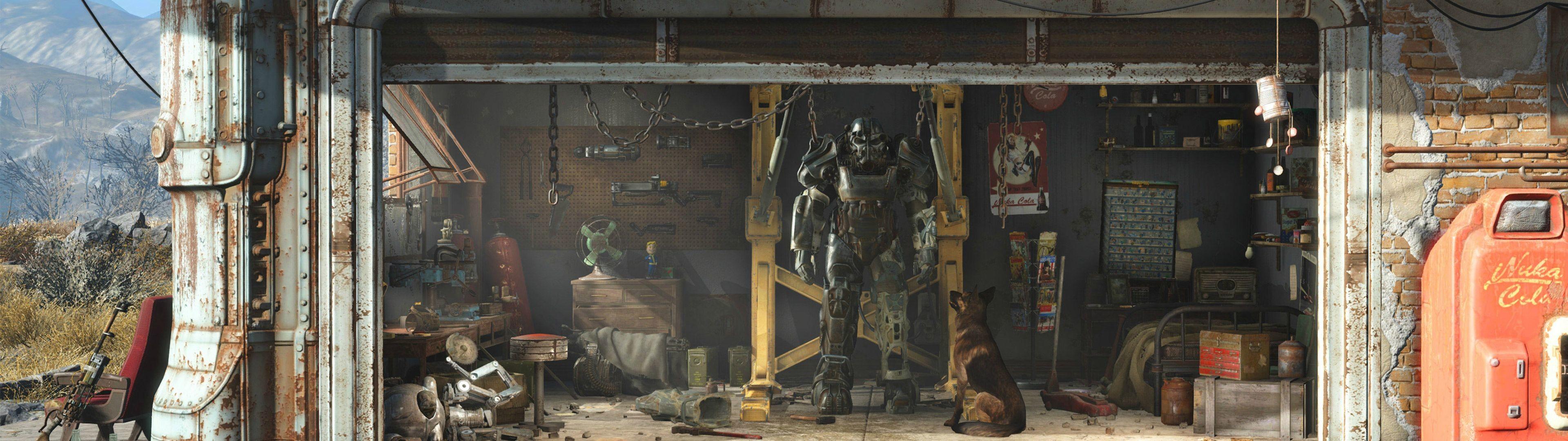RedditPics – Fallout 4 Dual Monitor Wallpaper .