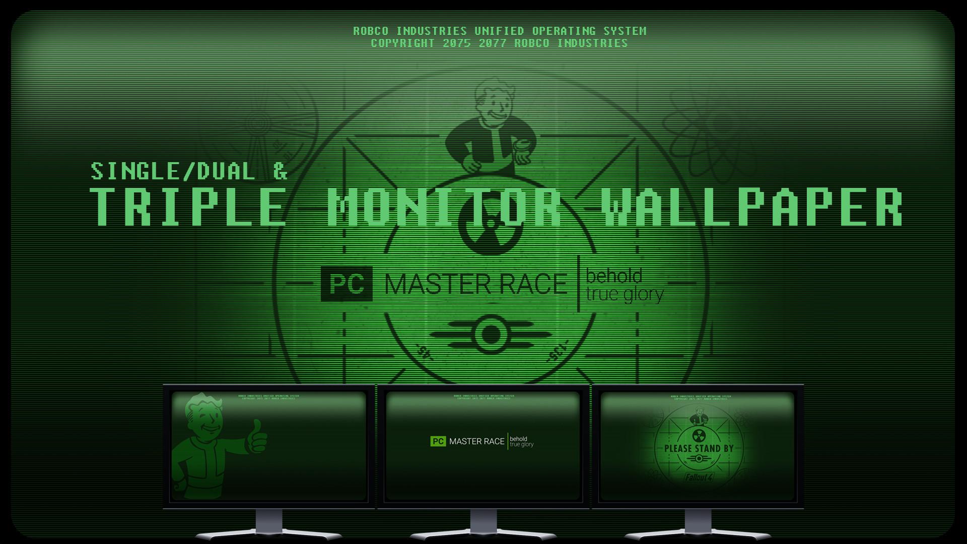… Fallout 4 – Single/Dual/Triple Monitor Wallpaper by foxgguy2001