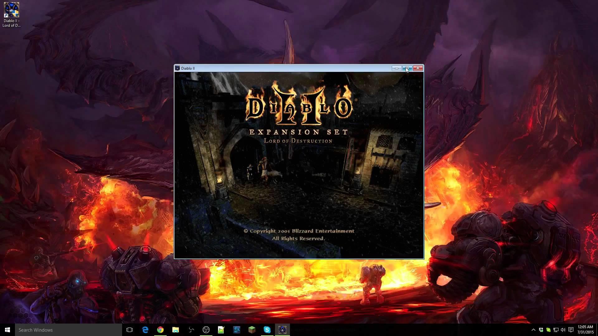 How to play Diablo II LoD on Windows 10 (Windowed Fullscreen) – YouTube