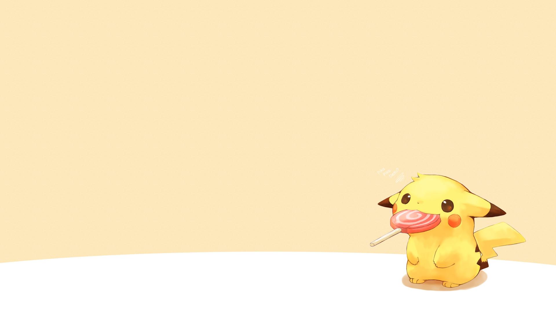 Pikachu and a Lollipop [1920×1080] …