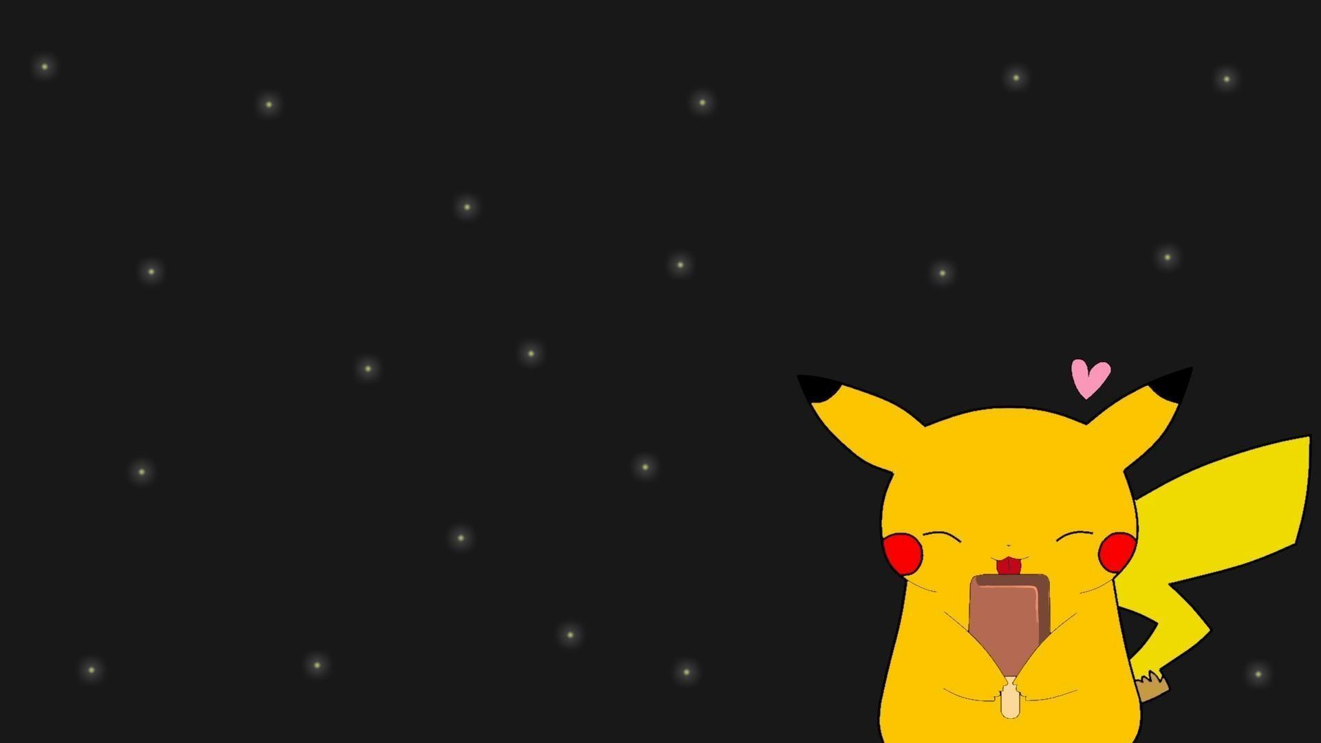 Pikachu-fireflies-ice-cream-wallpaper-HD