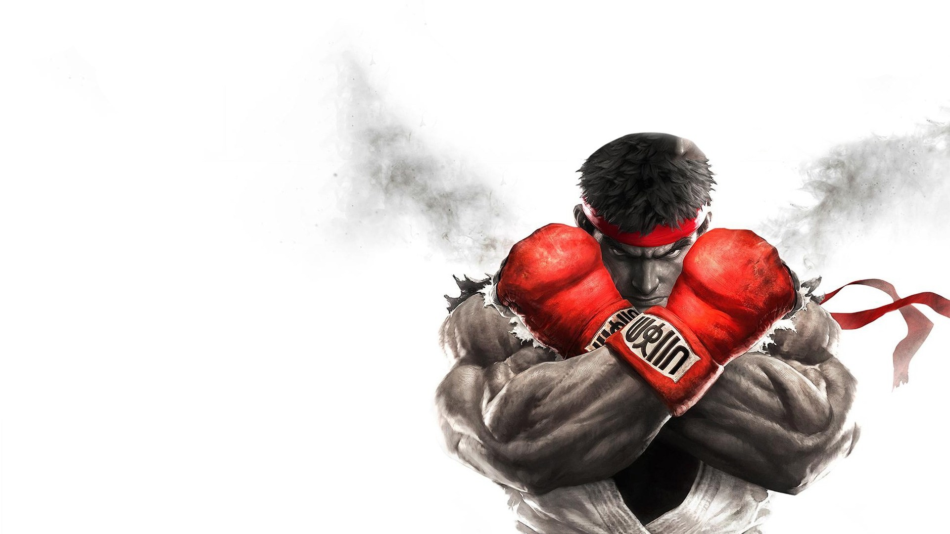 Street Fighter V. Classic Ryu pose for our custom PS4 wallpaper today. Best  use the darken top with this one.