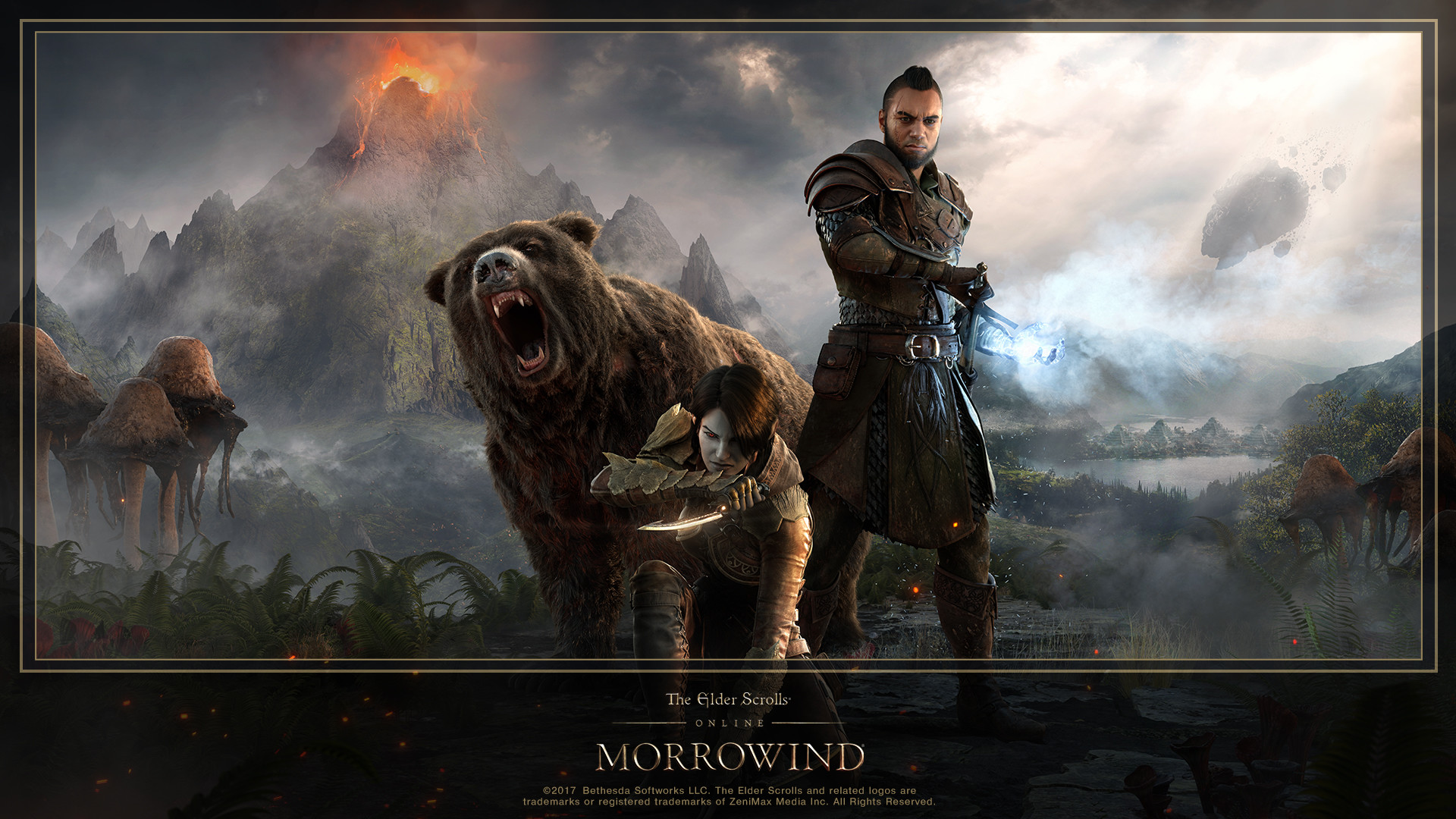 Download the New ESO: Morrowind Hero Art Wallpaper