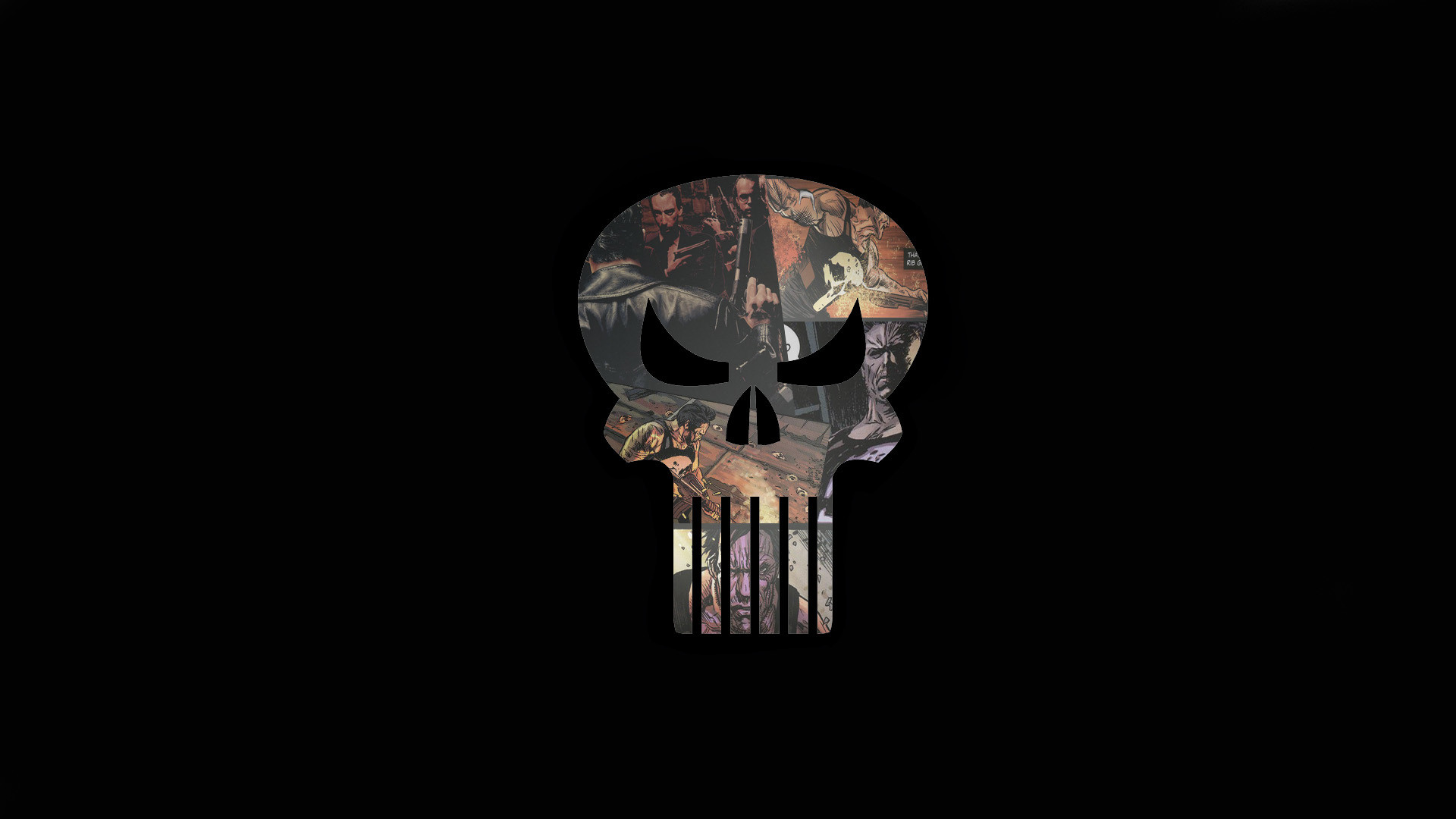 I made a Punisher wallpaperArtwork …