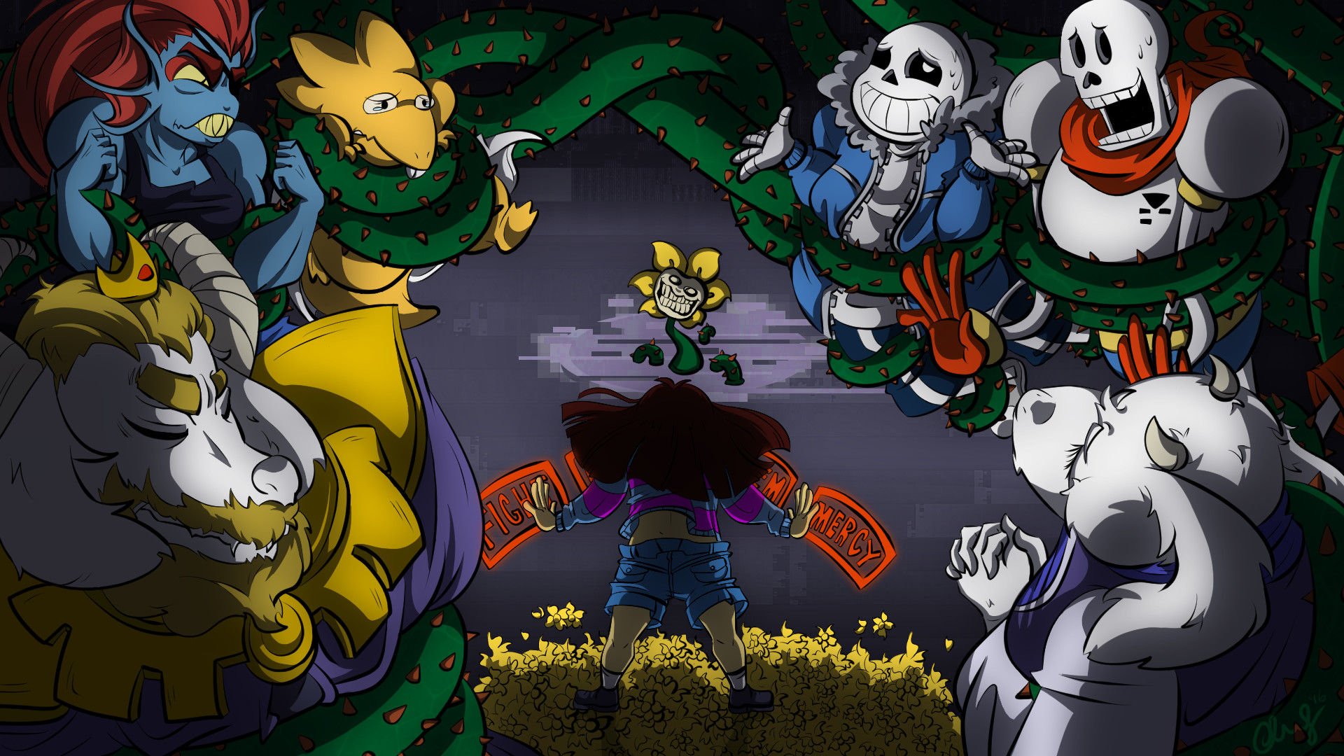 Фото всех персонажей игры андертейл