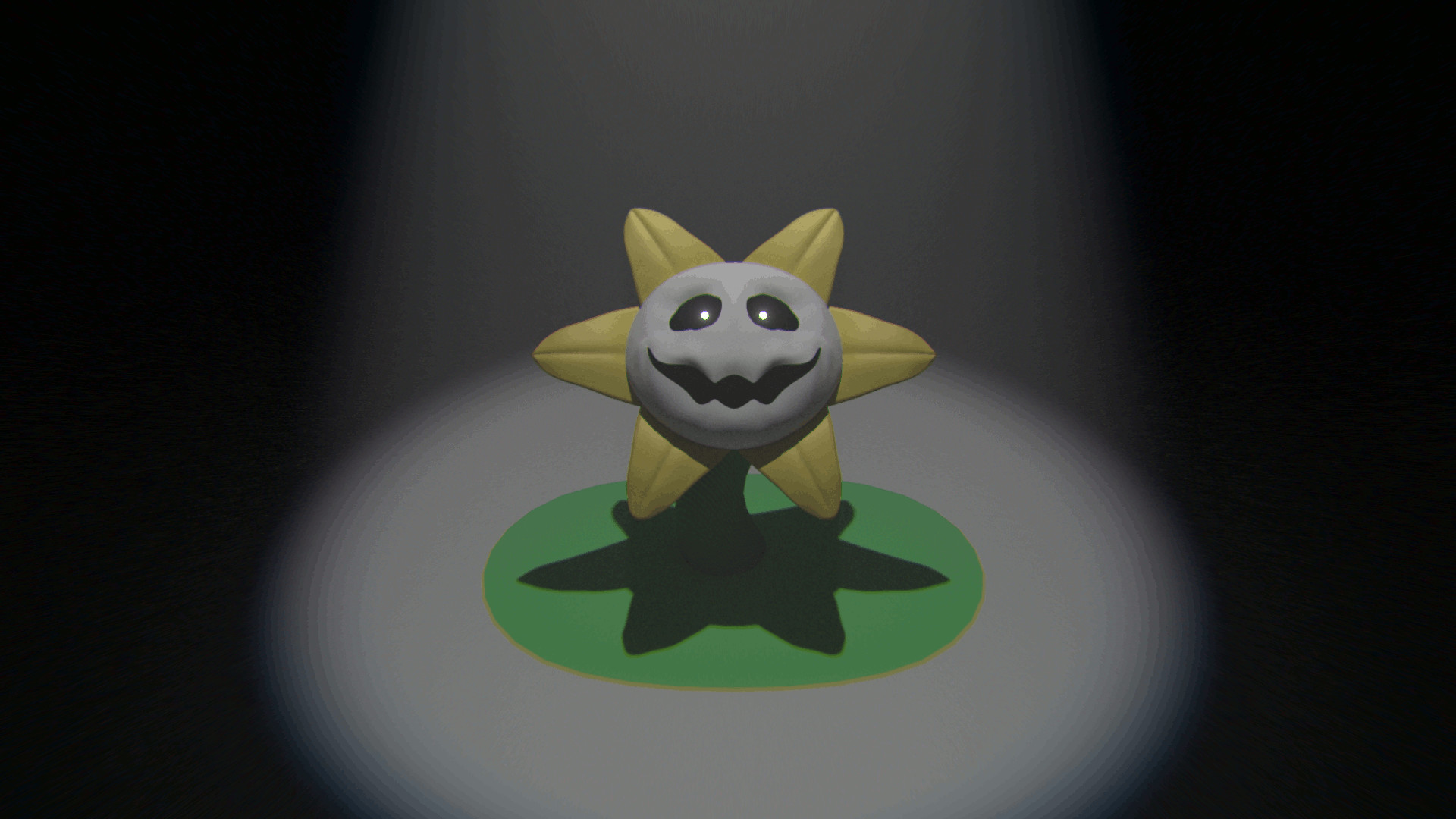 I made a quick render of Flowey …