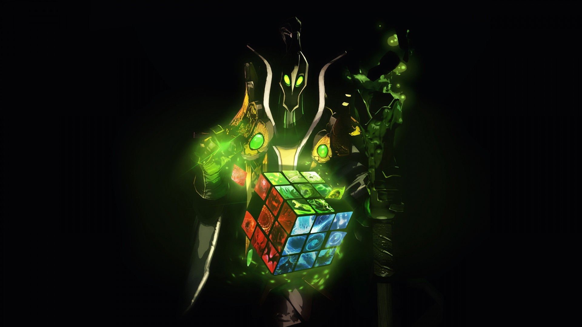 Preview wallpaper dota 2, rubick the grand magus, rubiks cube 1920×1080