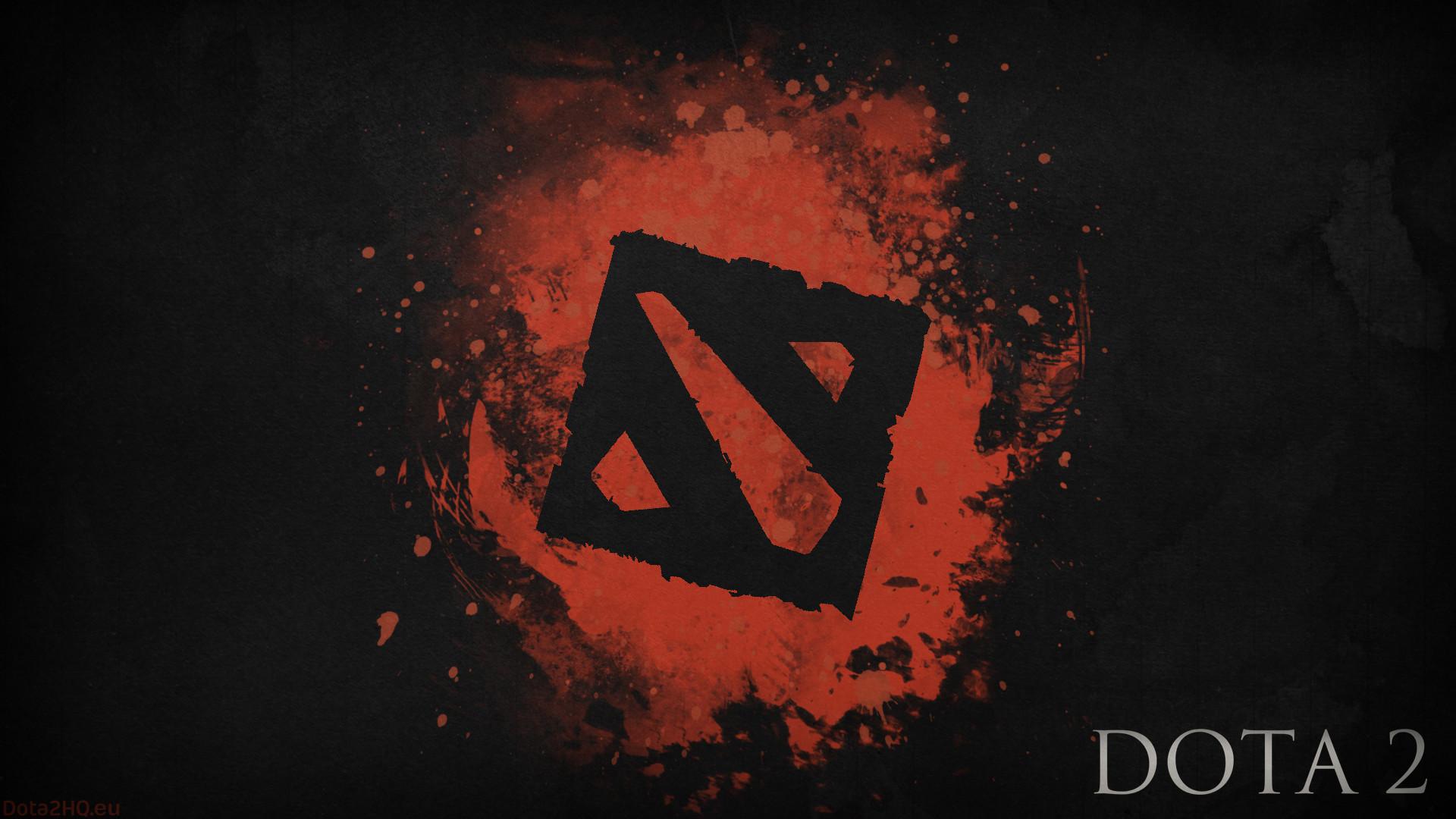 Preview wallpaper dota 2, black logo, art 1920×1080