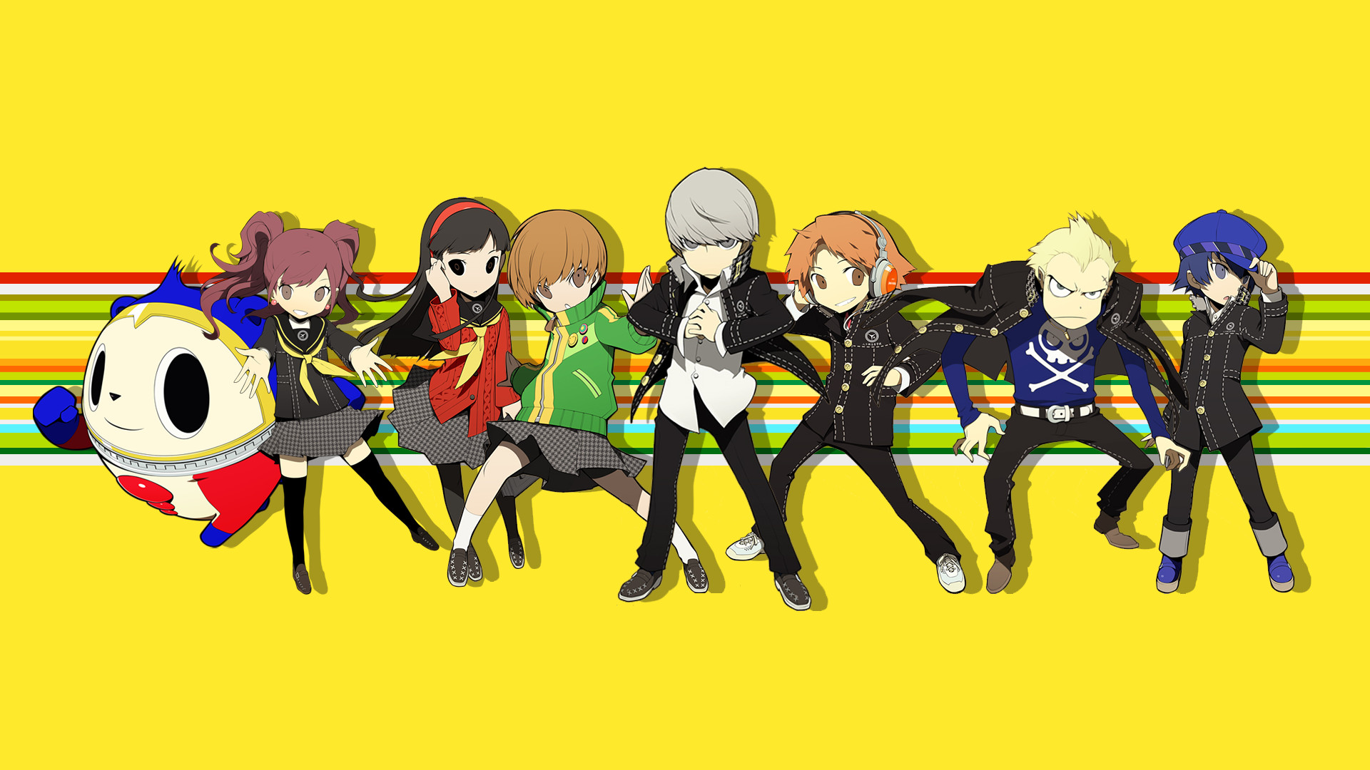 A Persona 4 wallpaper I made using the PQ chibis …
