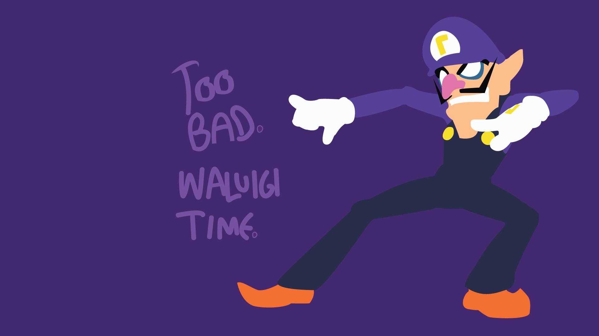 Too Bad. Waluigi Time. [1920×1080] (OC) | Wallpaper | Wallpapers