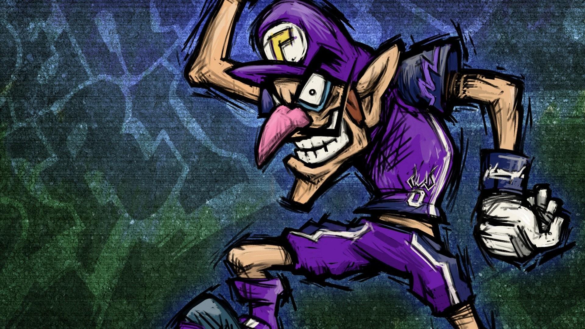 Video Game – Super Mario Strikers Waluigi Wallpaper