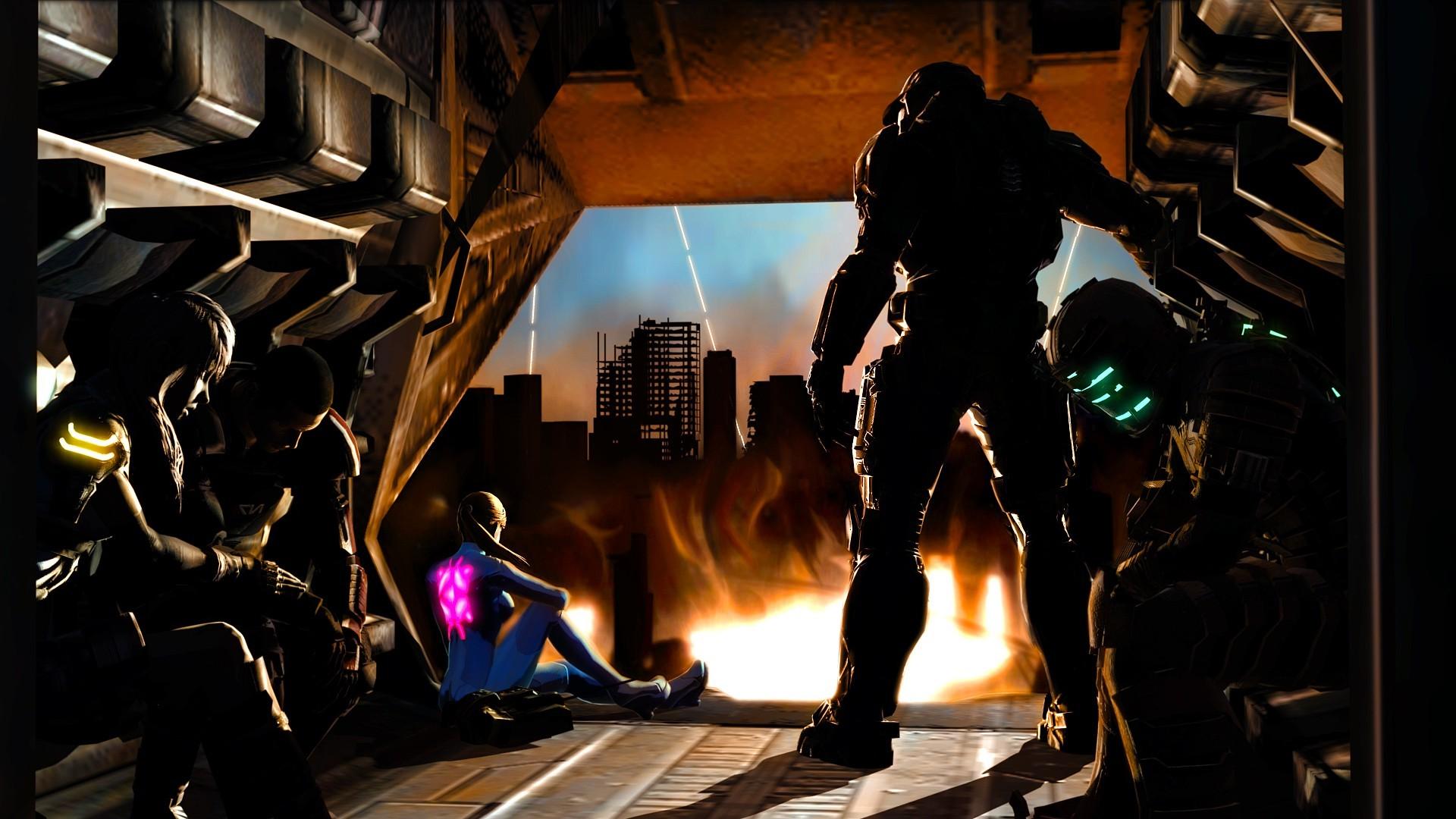 Dead Space, Mass Effect, Final Fantasy XIII, Halo, Metroid, Samus Aran,  Master Chief, Commander Shepard Wallpapers HD / Desktop and Mobile  Backgrounds
