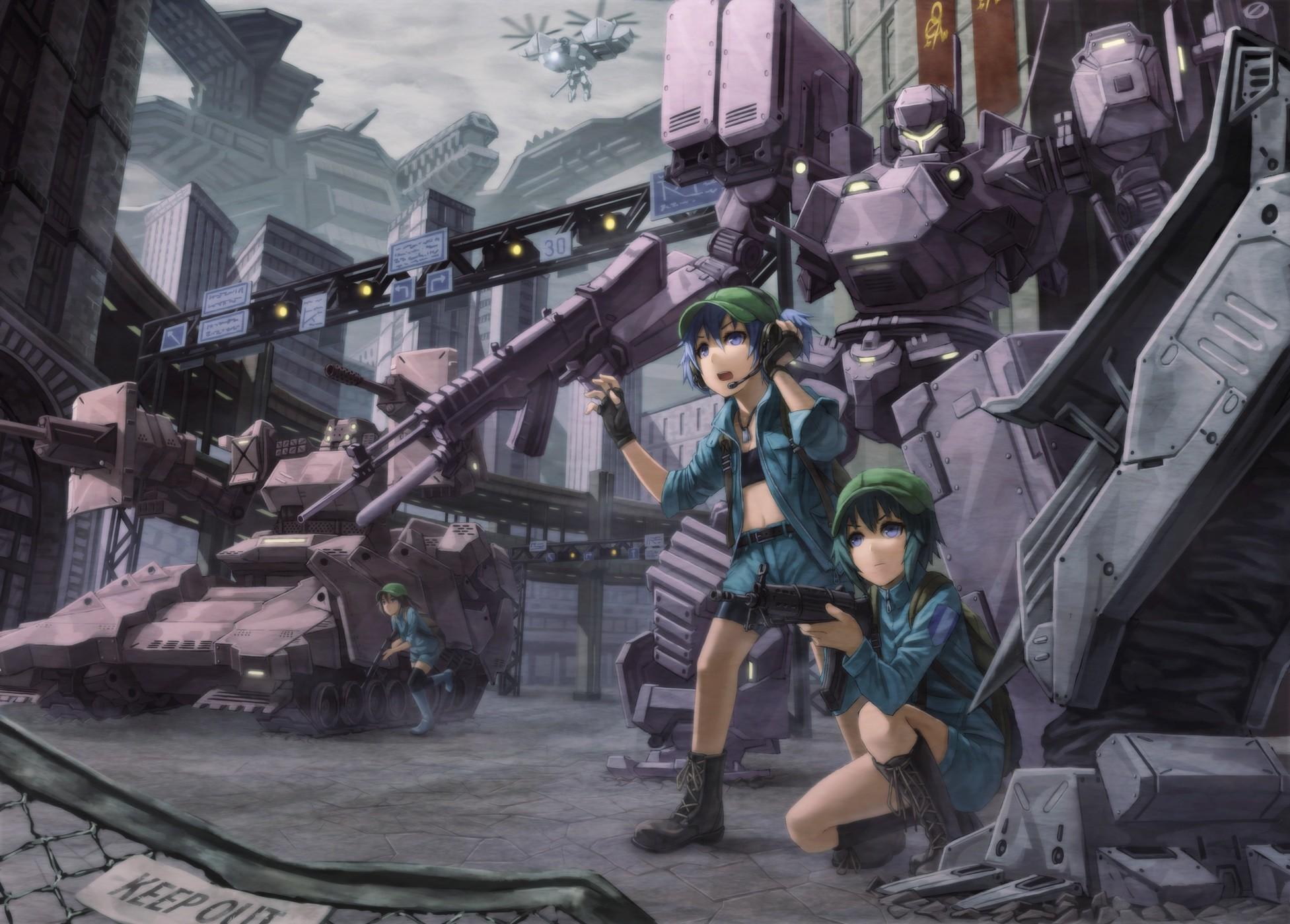 Armored core gun headphones kawashiro nitori kurione (zassou) mecha touhou  weapon wallpaper     65767   WallpaperUP