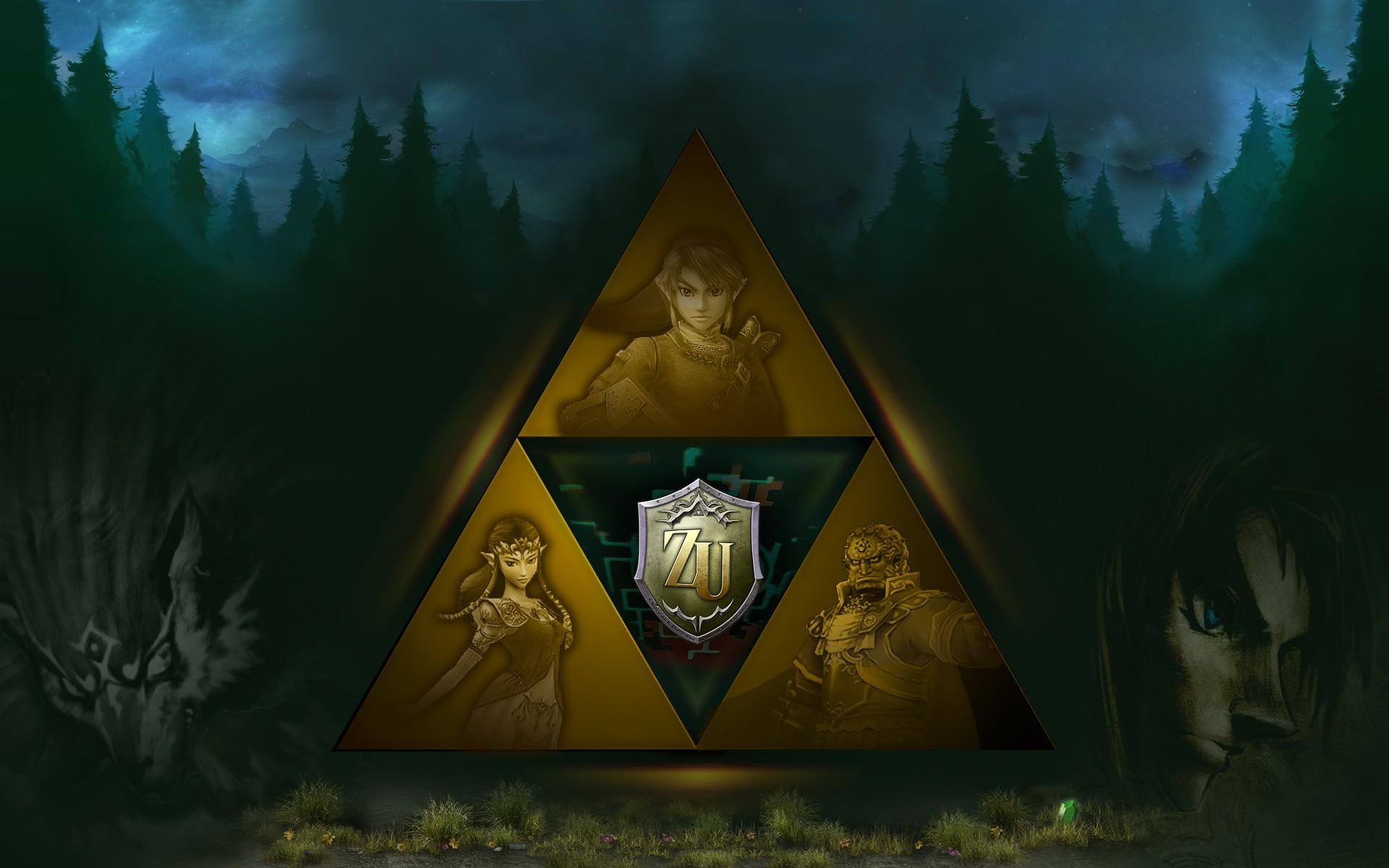 Video Game – The Legend Of Zelda: Twilight Princess Triforce Zelda Link  Ganondorf Wolf Link