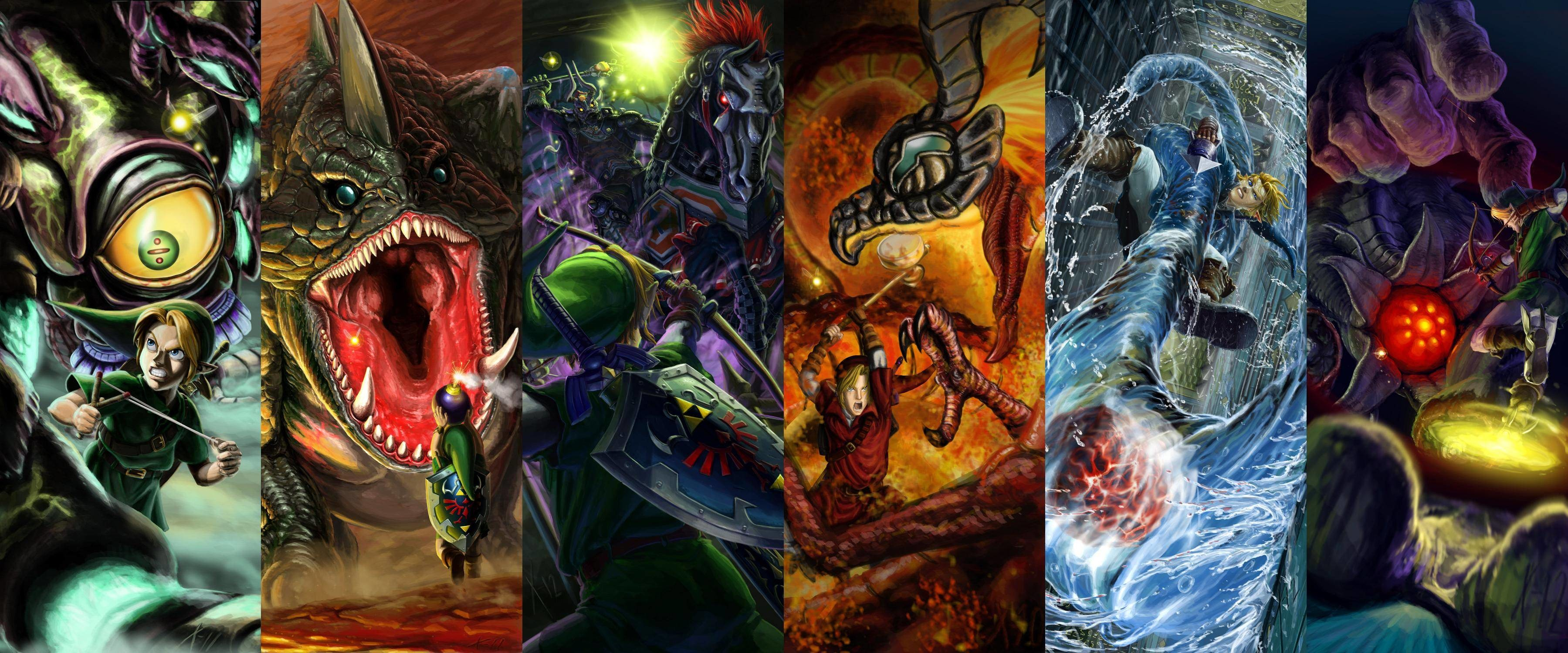 Ocarina of Time boss battles (Gohma, Dodongo, Phantom Ganon, Volvagia,  Morpha, & Bongo Bongo) wallpaper …