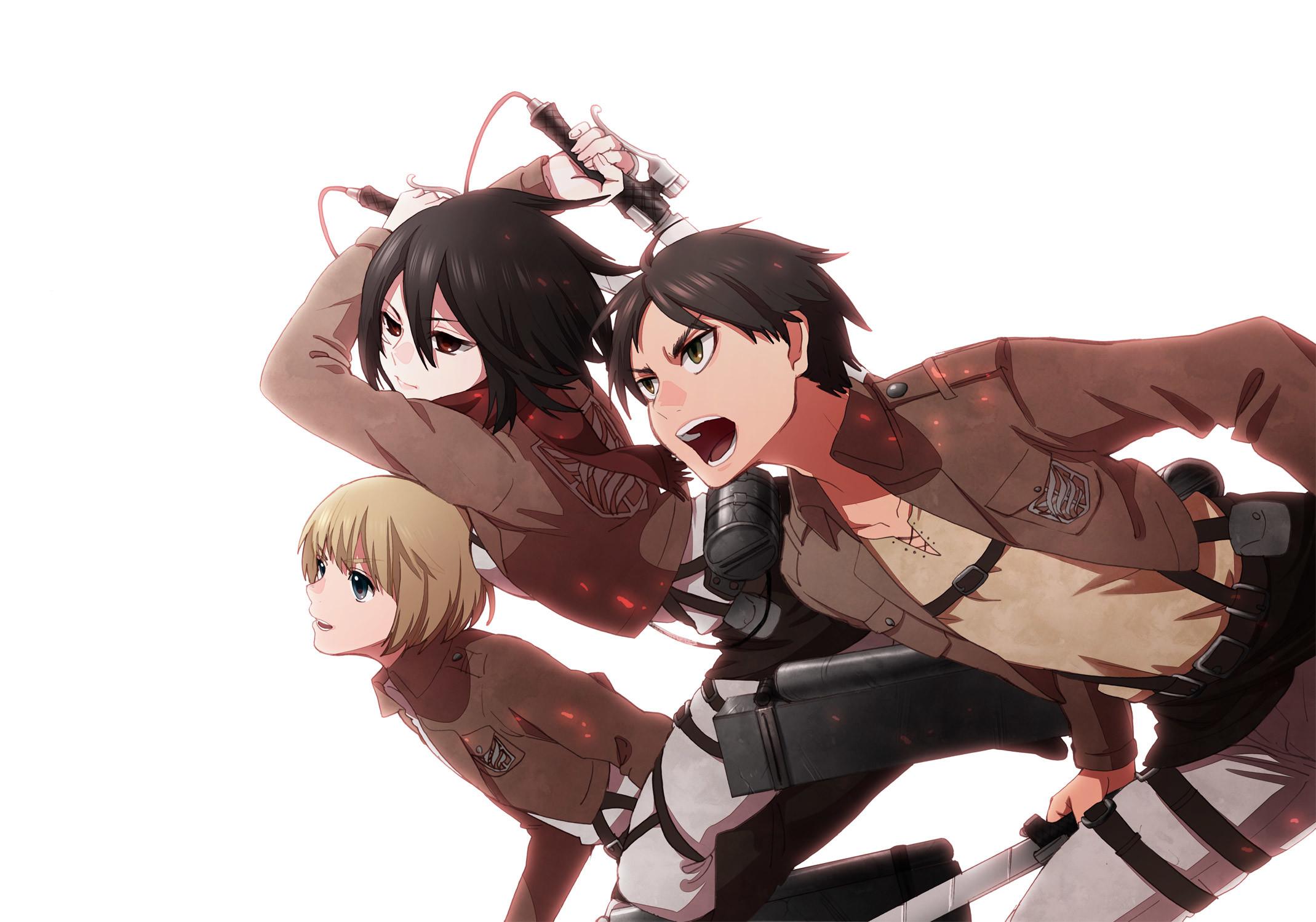 Attack On Titan Wallpaper Eren Mikasa Armin Anime L'Attaque Des Ti.