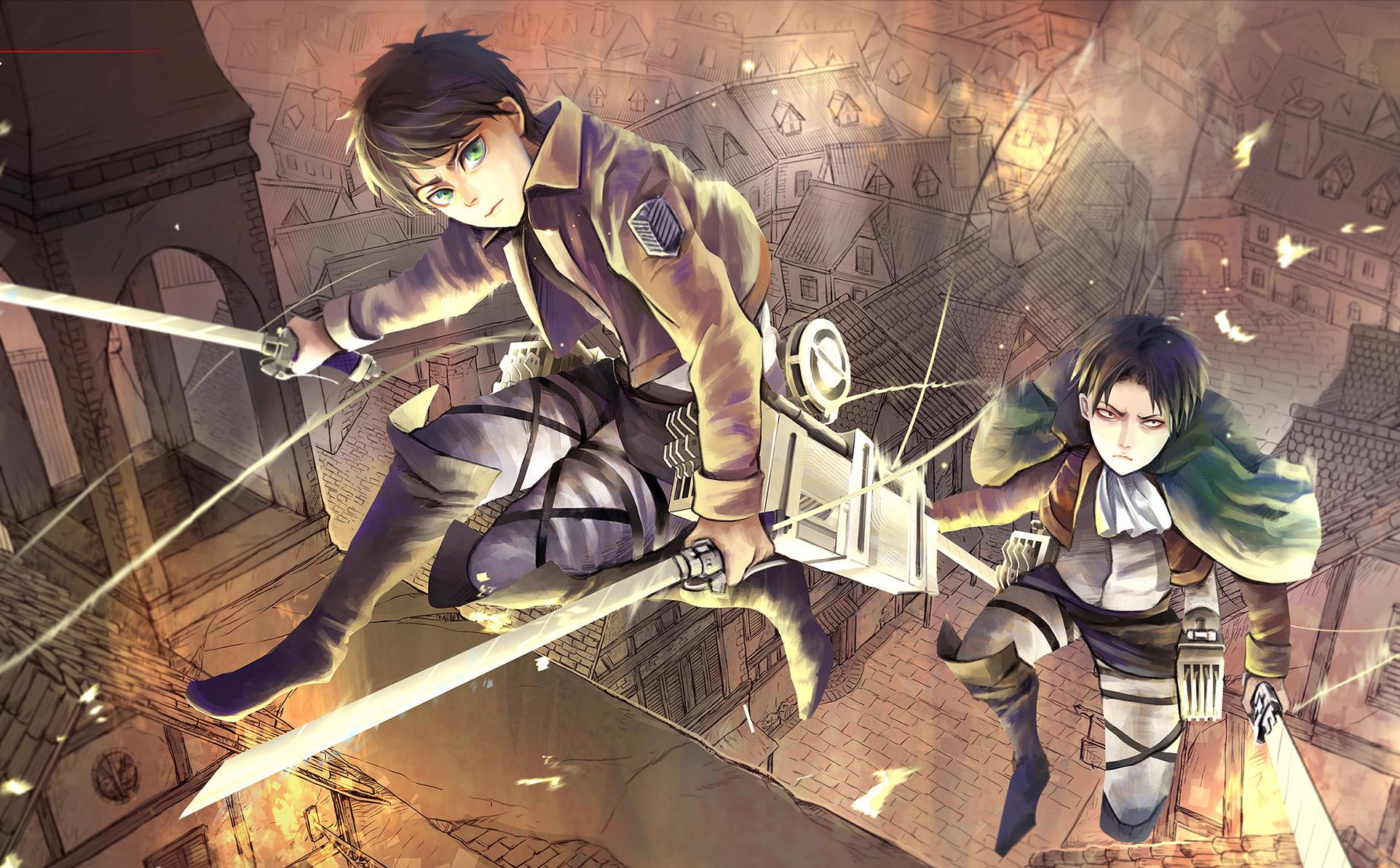 Shingeki no Kyojin Levi x Eren